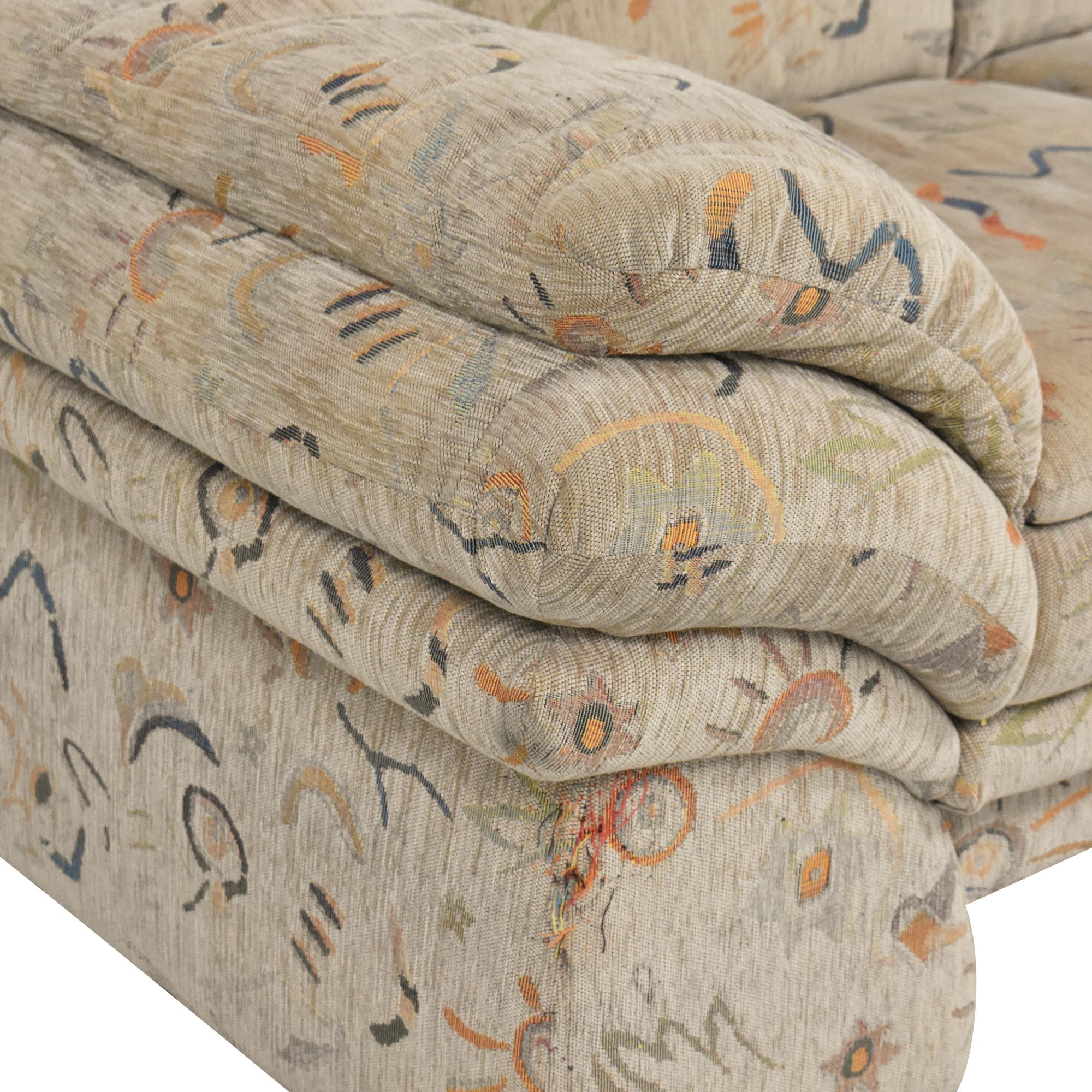 Patterned Three Cushion Sofa Sofas