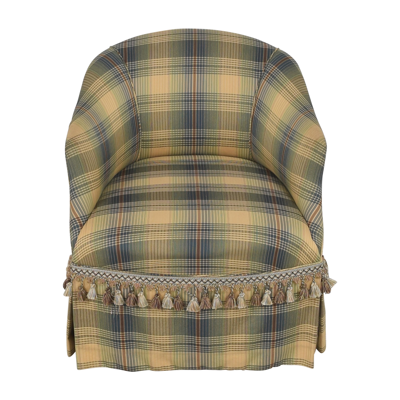 Custom Swivel Chair with Fringe pa