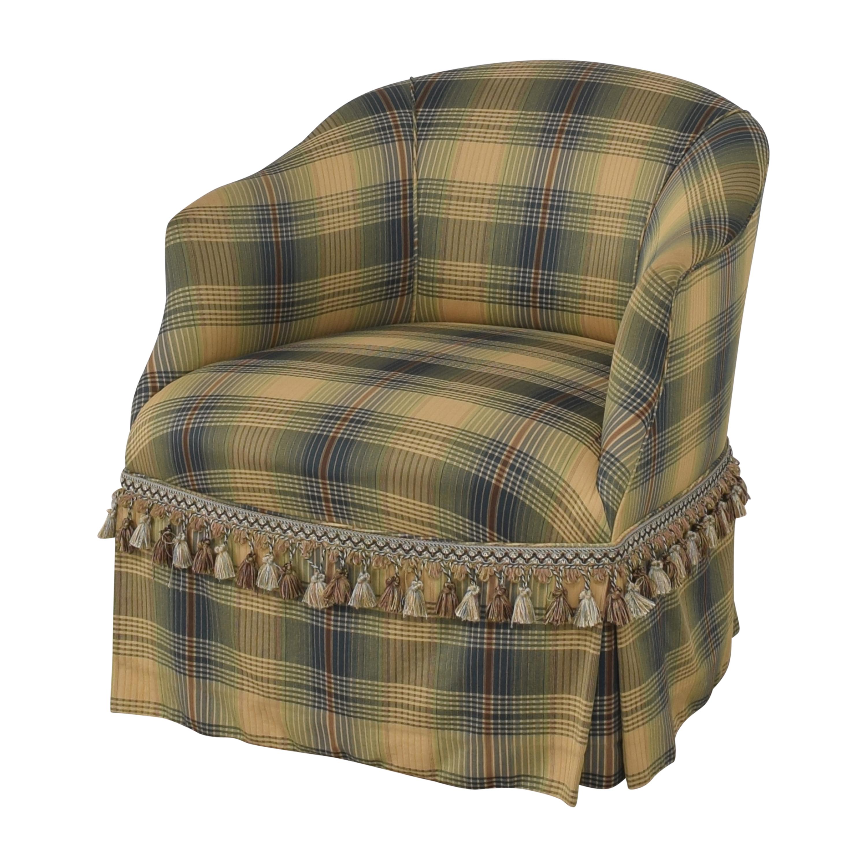 Custom Swivel Chair with Fringe nyc