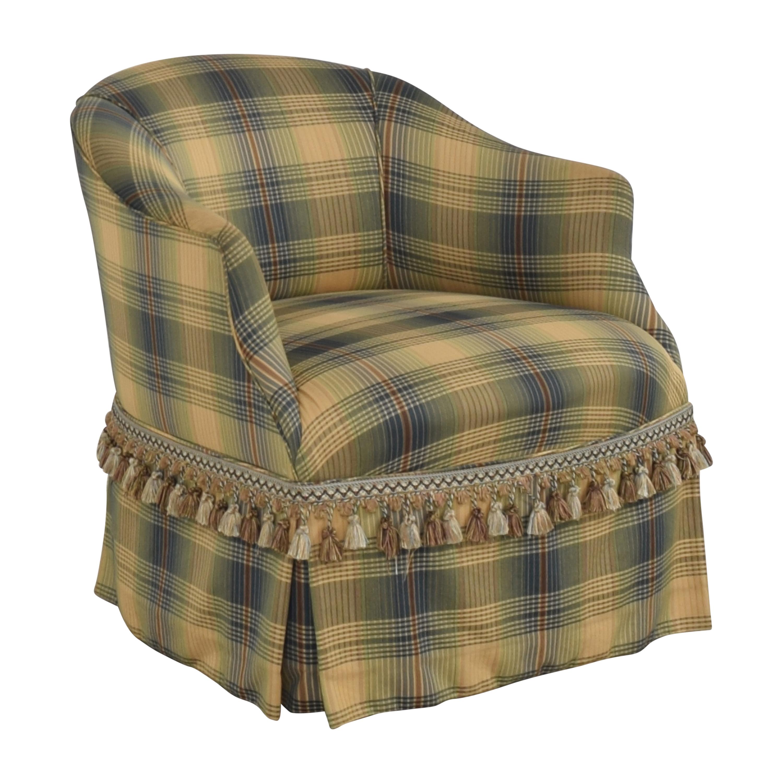 shop Custom Swivel Chair with Fringe  Chairs