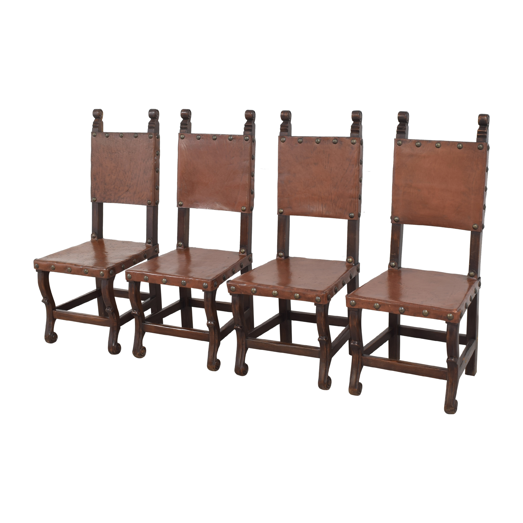 South Cone Furniture South Cone Nailhead Accented Dining Chairs second hand