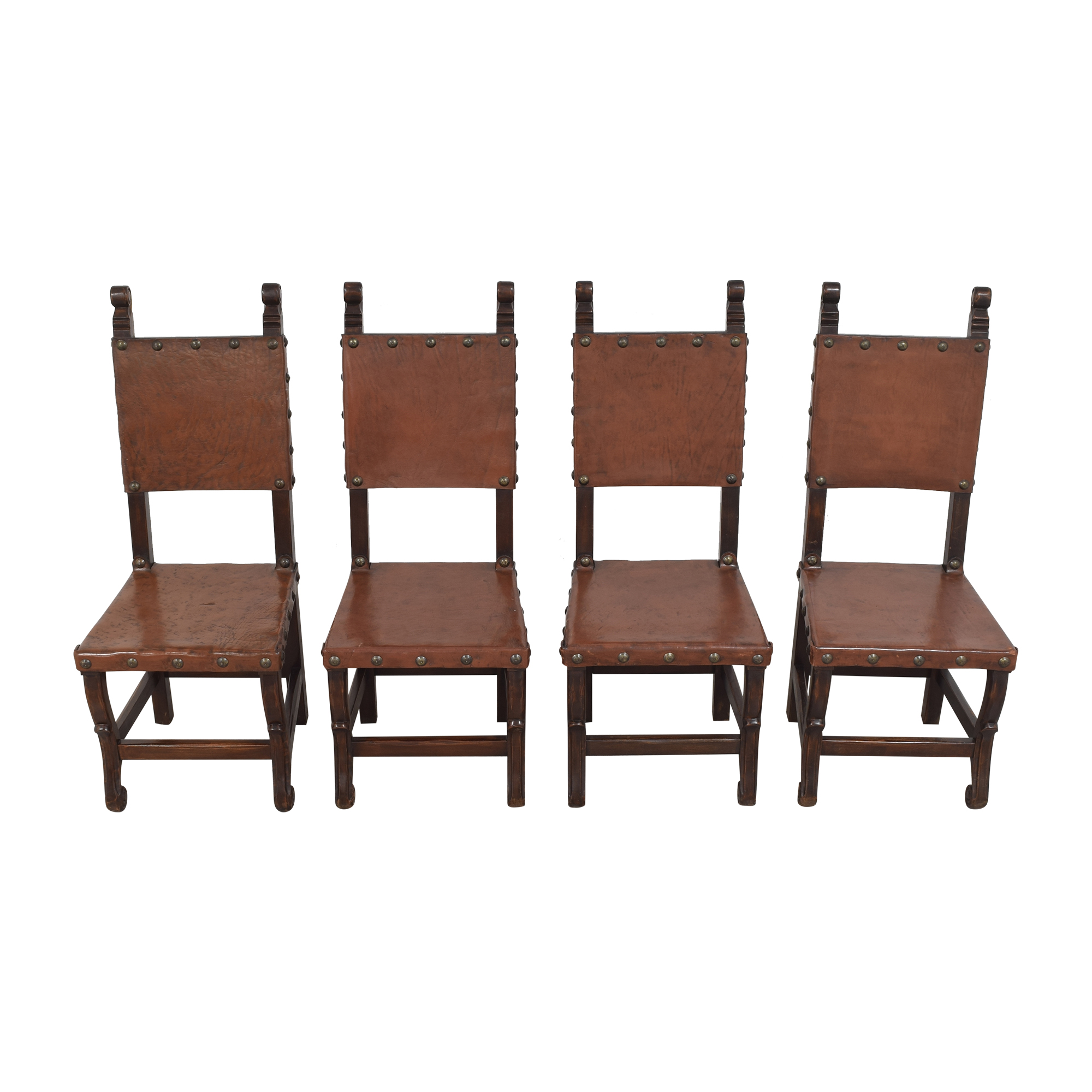 South Cone Furniture South Cone Nailhead Accented Dining Chairs nj