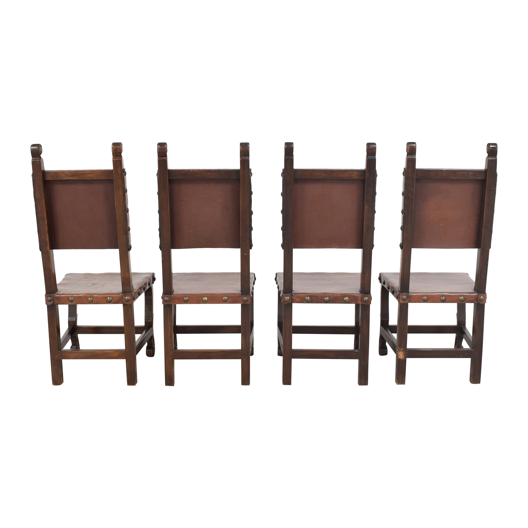 South Cone Nailhead Accented Dining Chairs sale