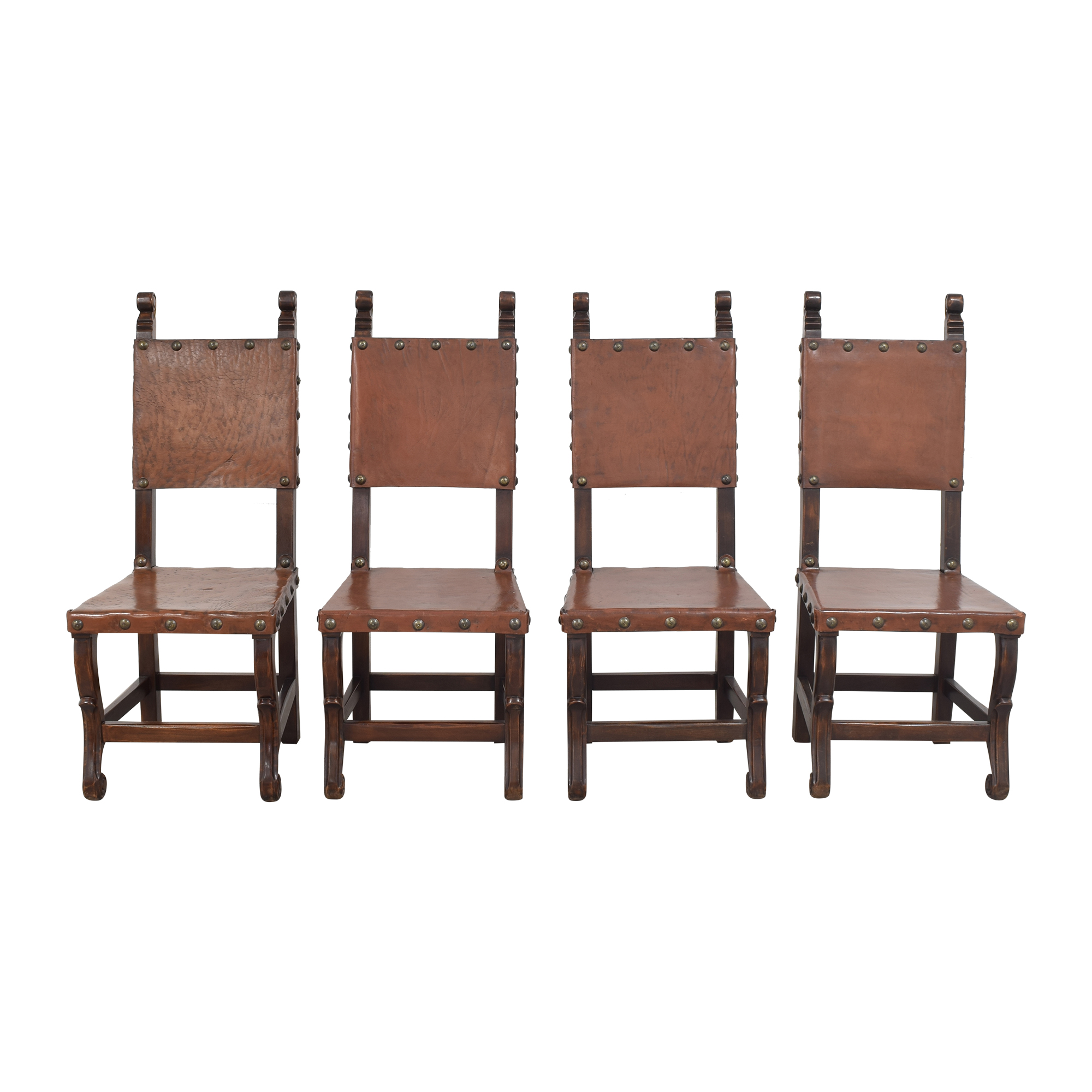 shop South Cone Furniture South Cone Nailhead Accented Dining Chairs online