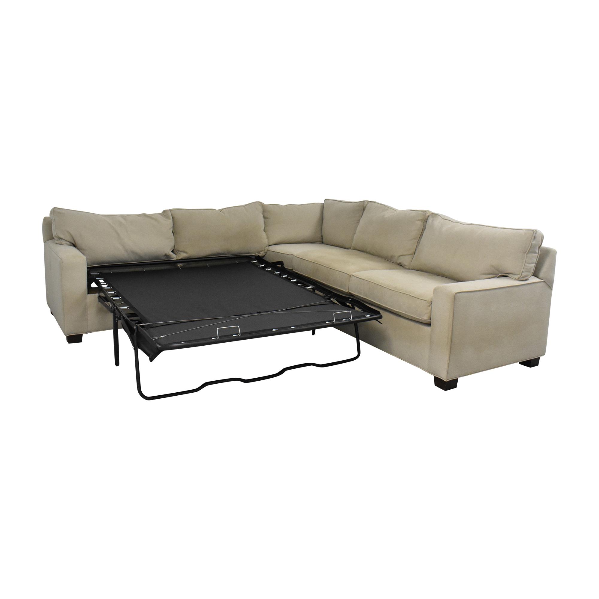 Mitchell Gold + Bob Williams Mitchell Gold + Bob Williams Sectional Sleeper Sofa used