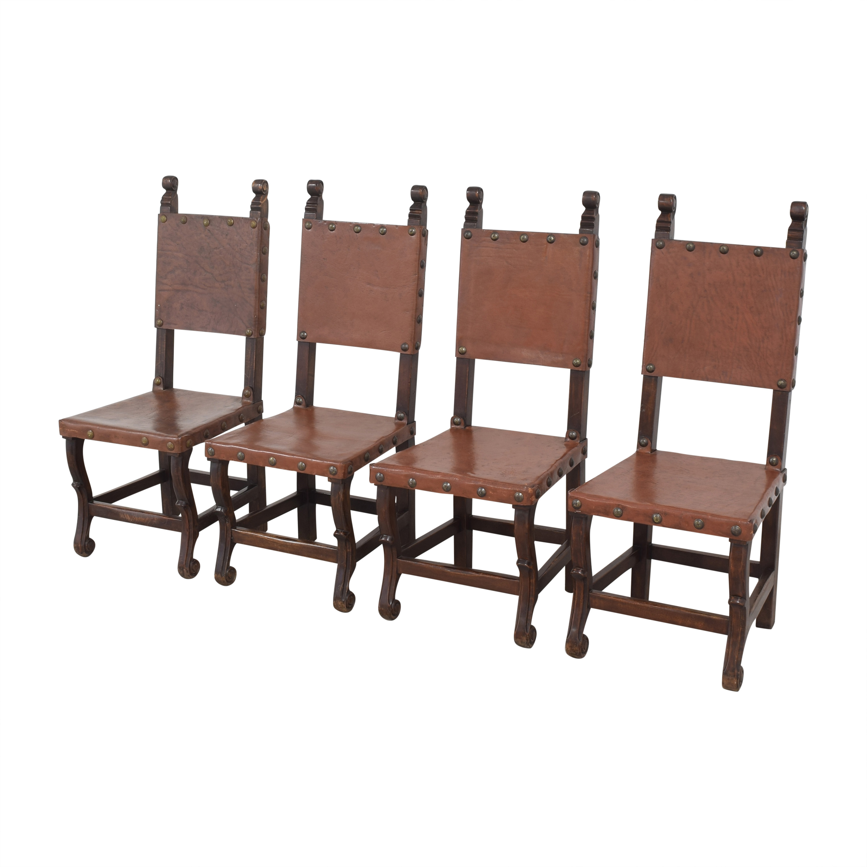buy South Cone Furniture South Cone Nailhead Accented Dining Chairs online