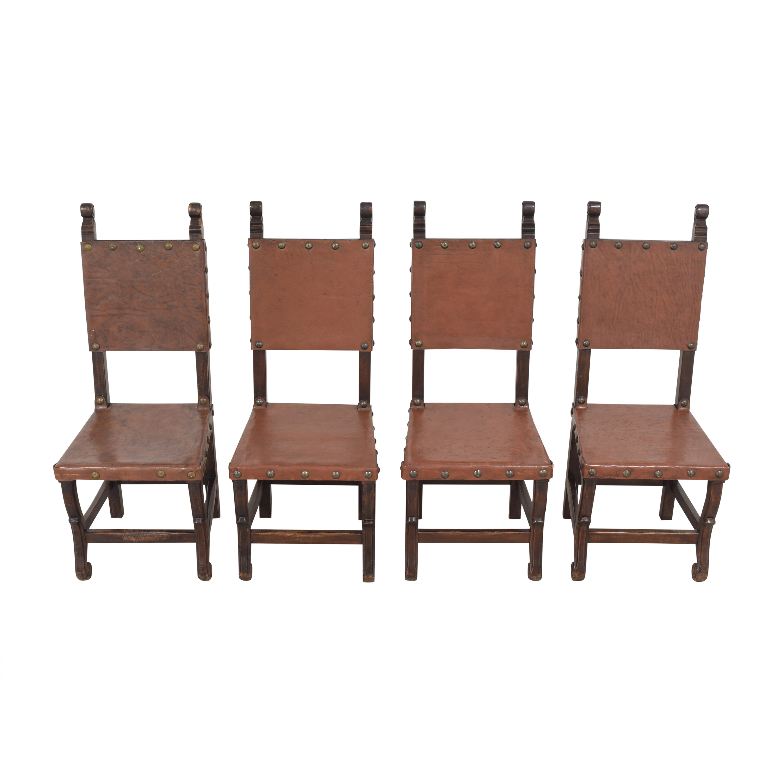 South Cone Furniture South Cone Nailhead Accented Dining Chairs Chairs