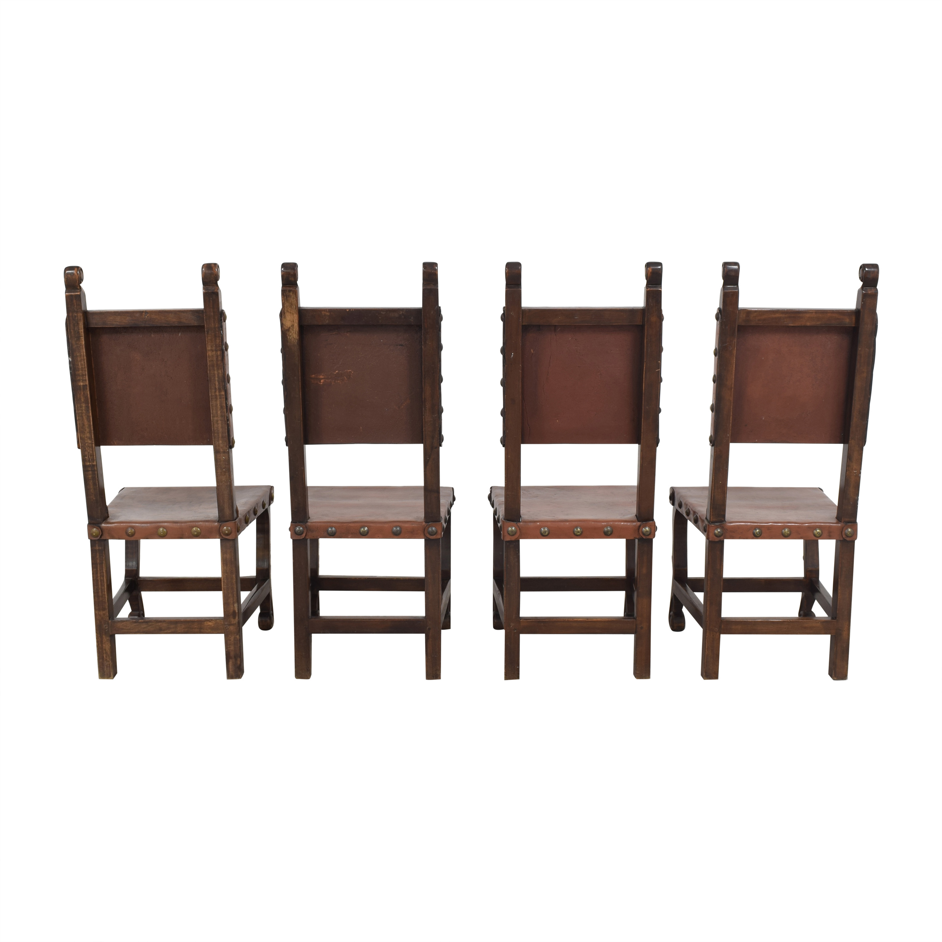 South Cone Furniture South Cone Nailhead Accented Dining Chairs ct