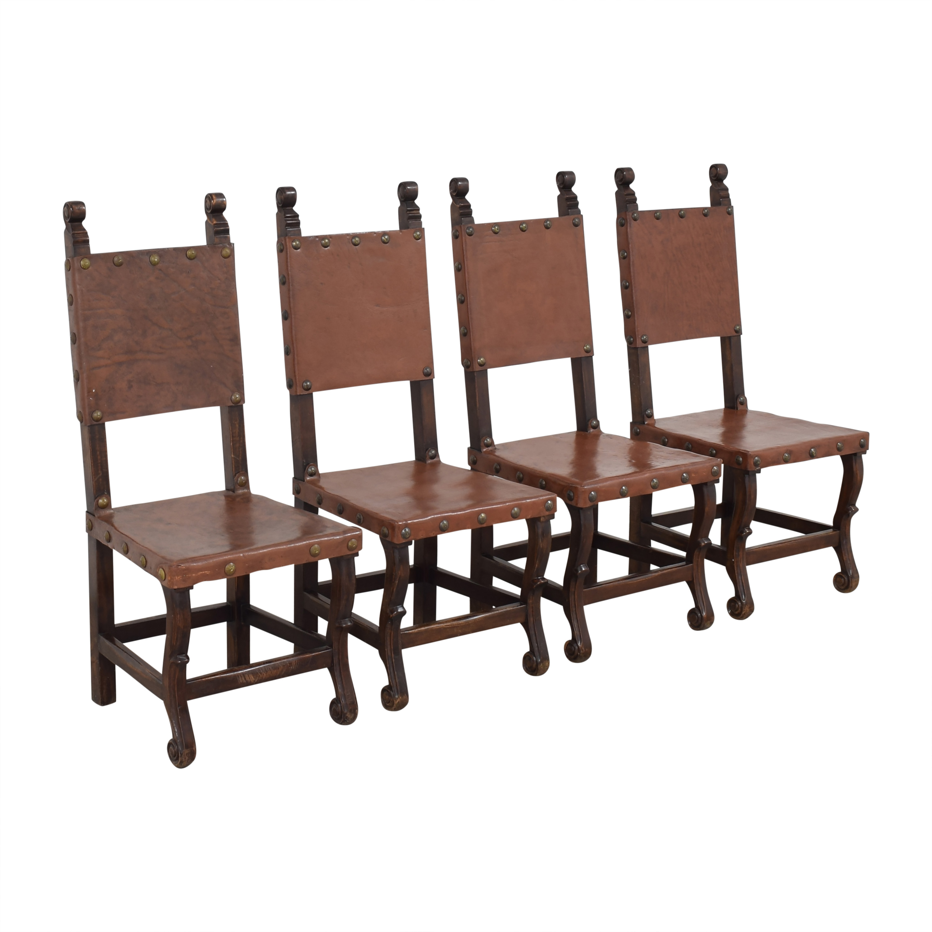 shop South Cone Nailhead Accented Dining Chairs South Cone Furniture Dining Chairs