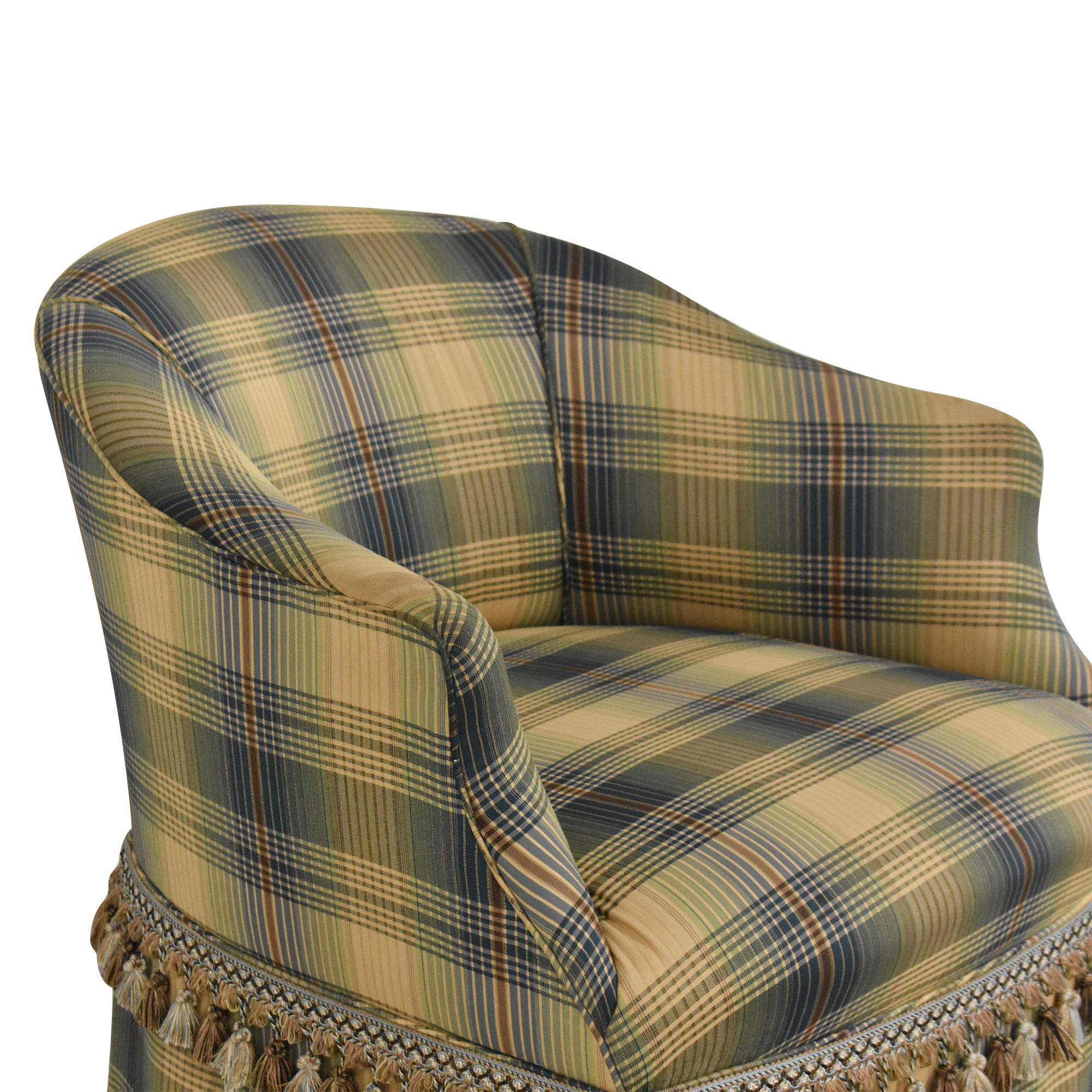 Custom Swivel Chair with Fringe discount