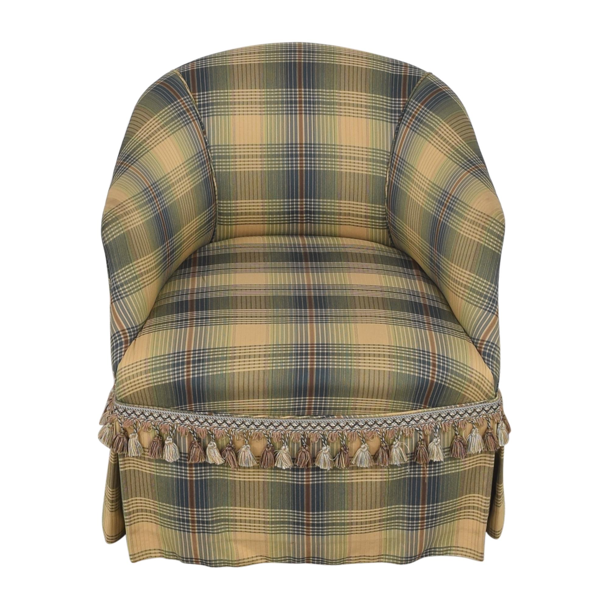Custom Swivel Chair with Fringe nj