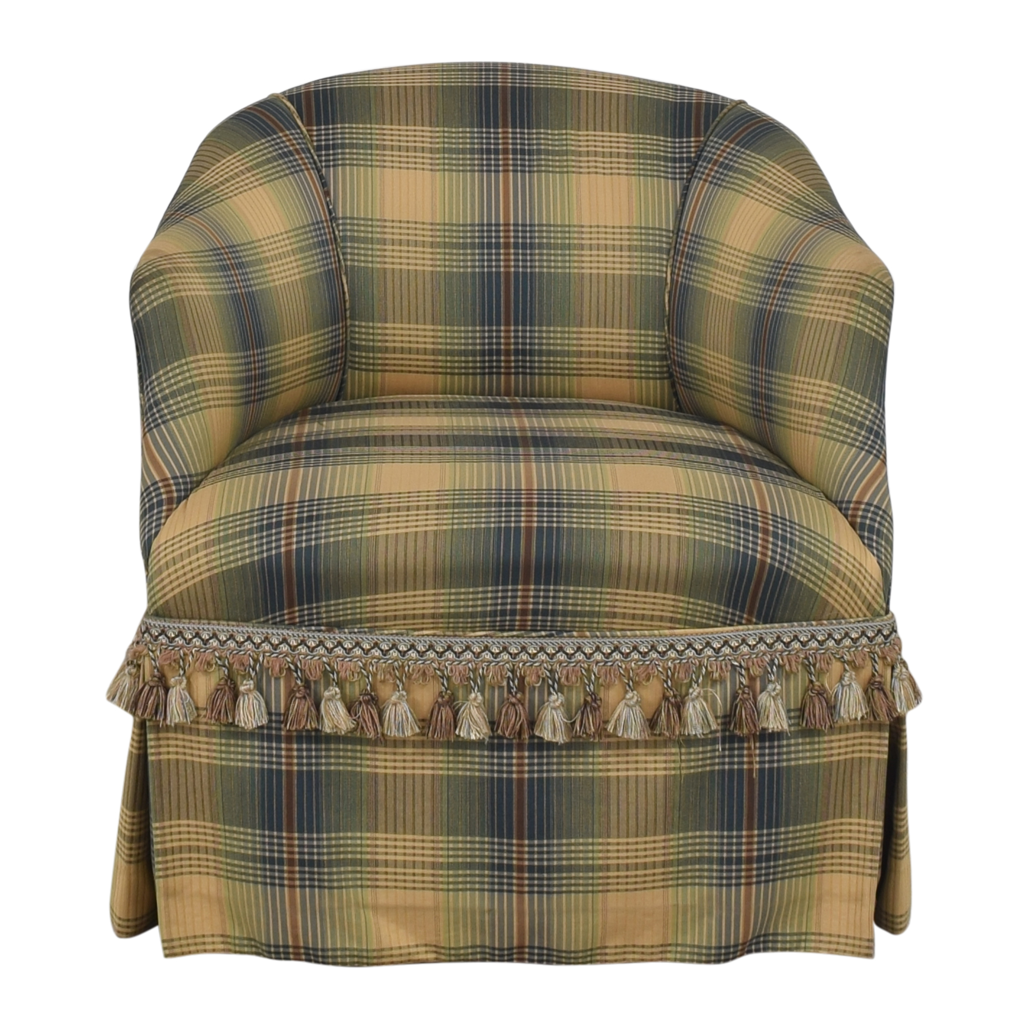 shop Custom Swivel Chair with Fringe