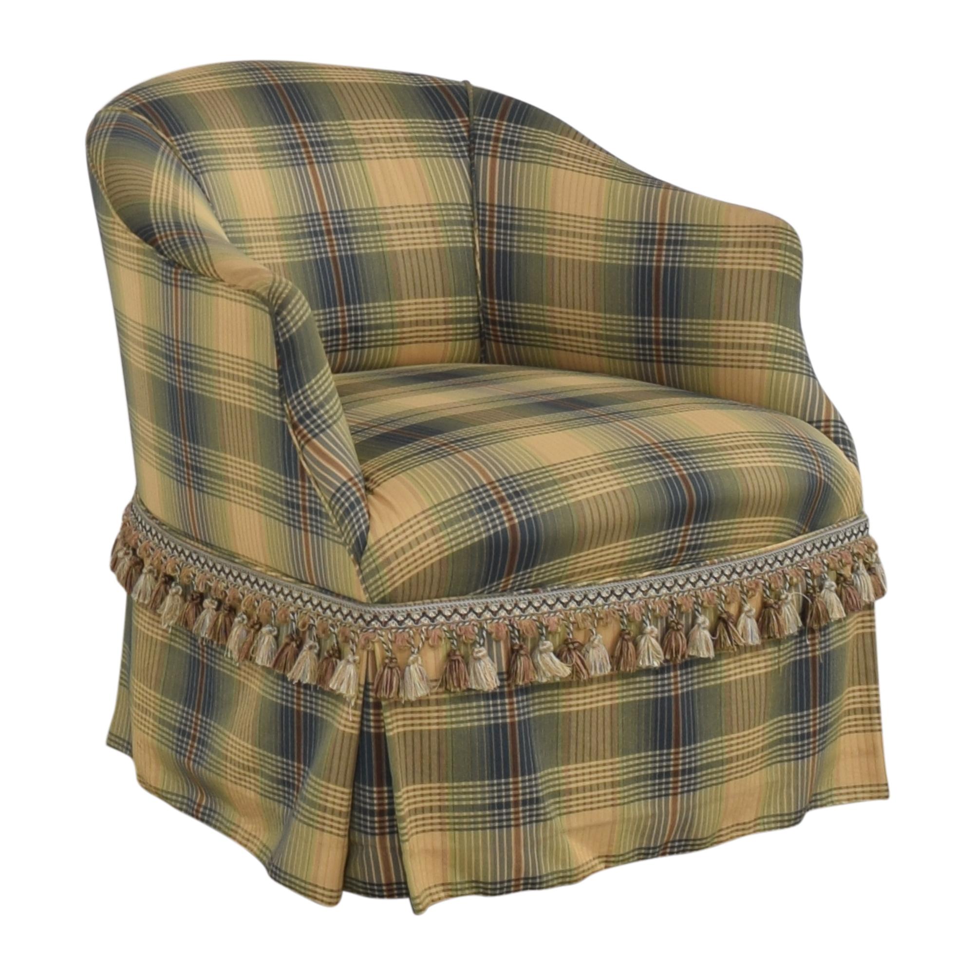 Custom Swivel Chair with Fringe sale