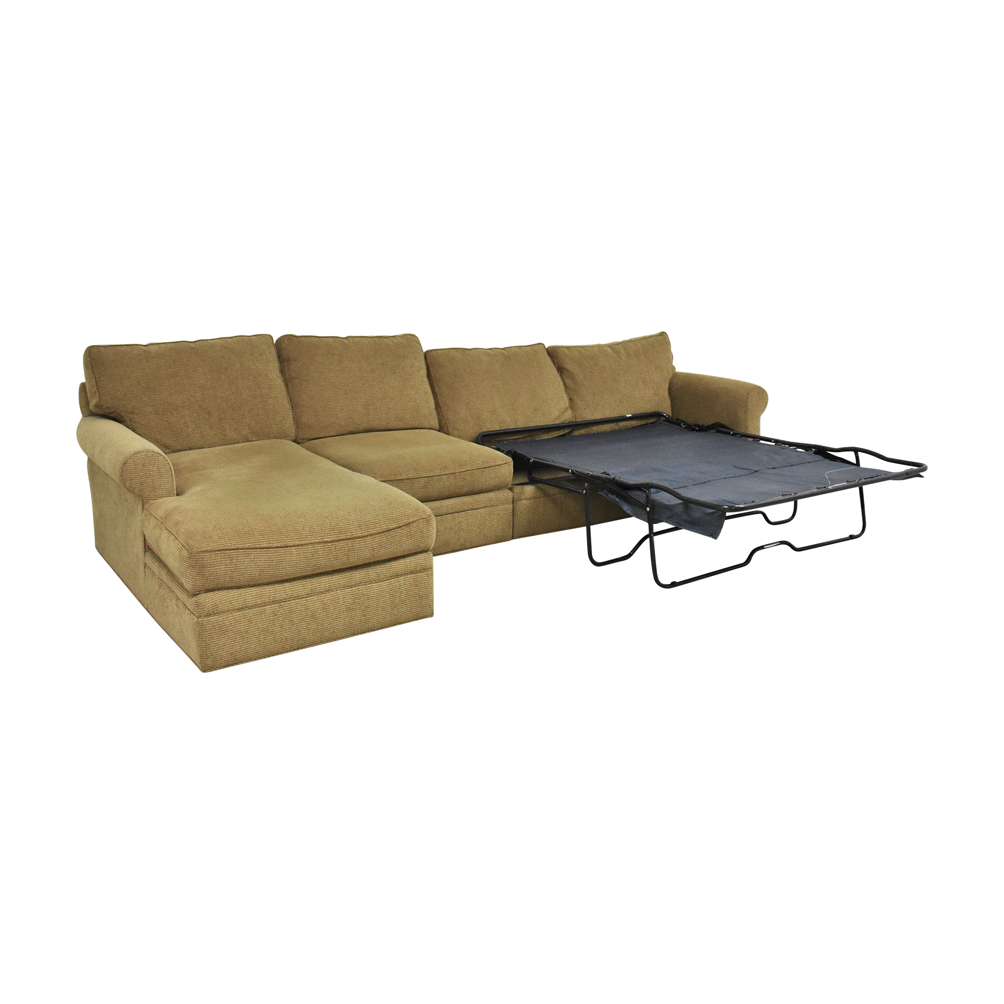 Crate & Barrel Chaise Sectional Sleeper Sofa / Sofas