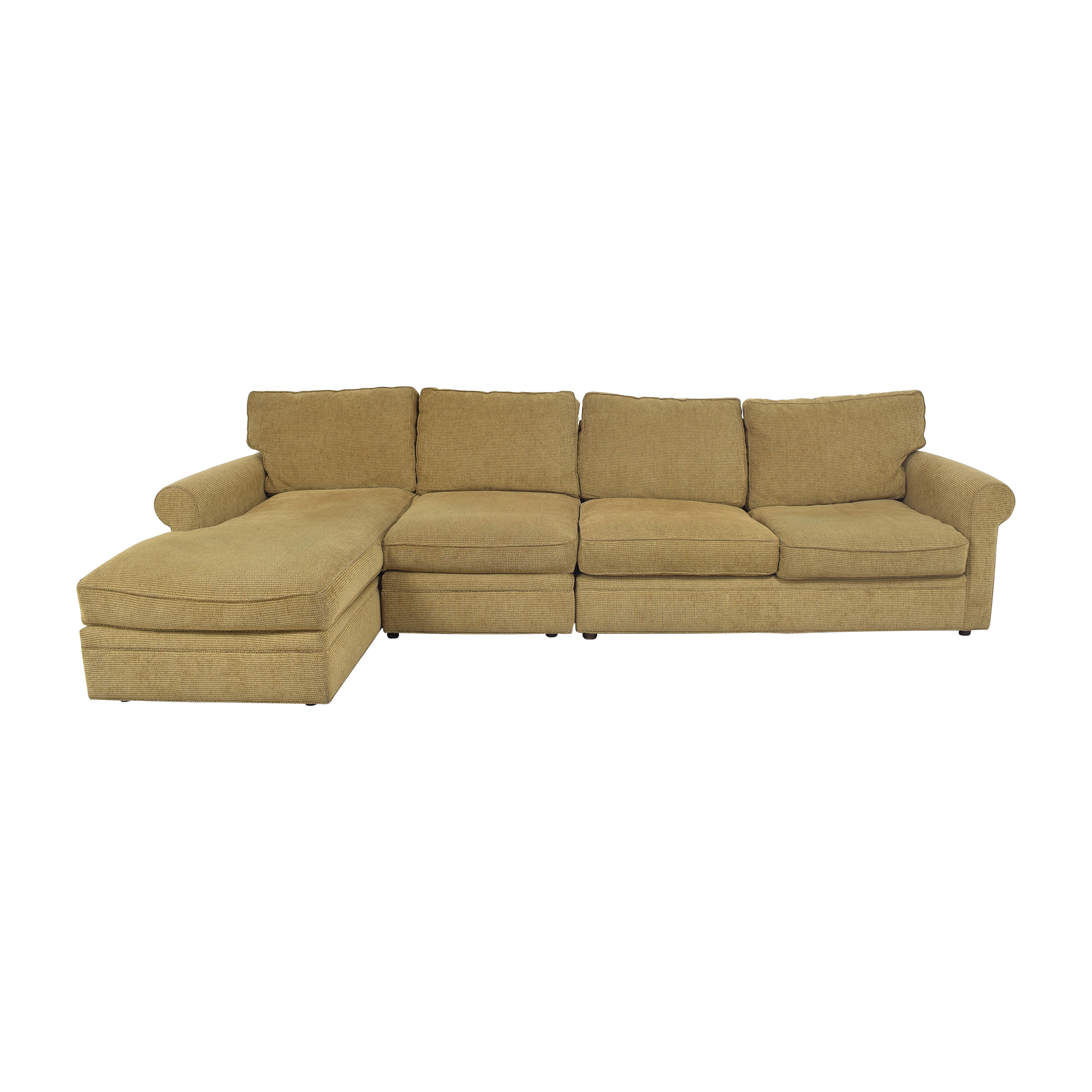 Crate & Barrel Chaise Sectional Sleeper Sofa / Sectionals