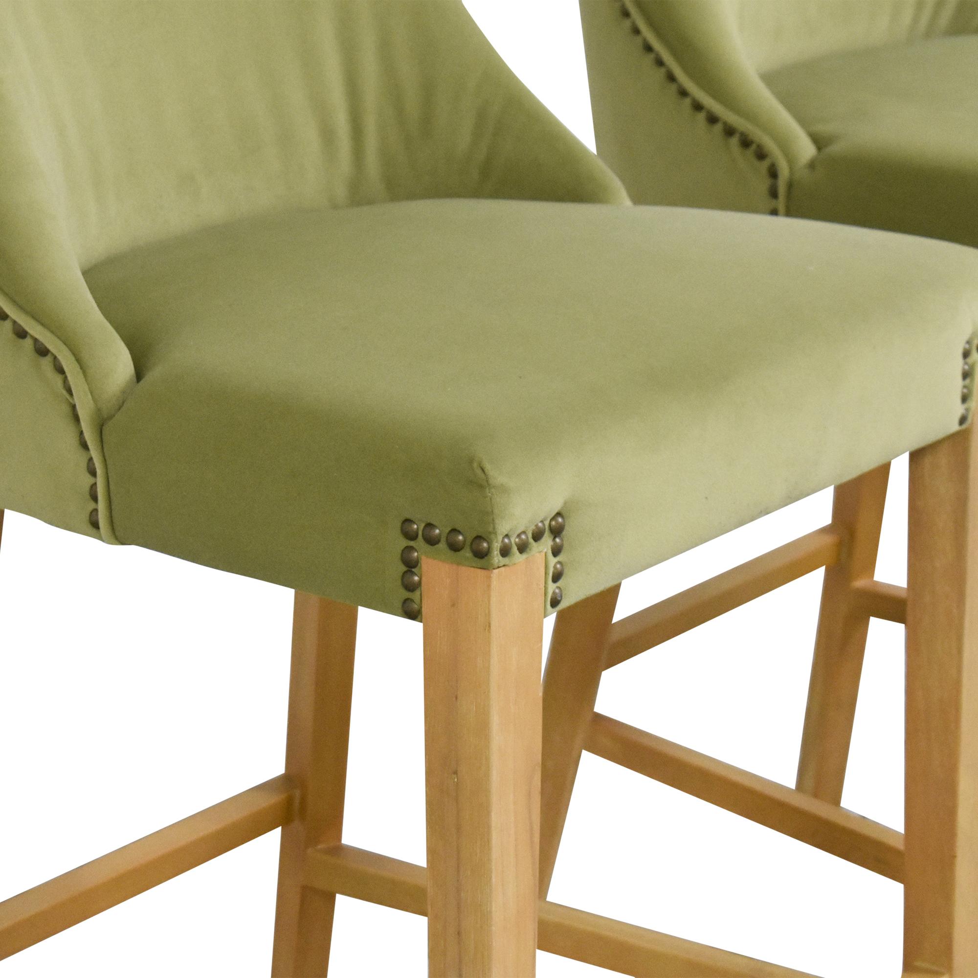 Jason Furniture Nailhead Trim Bar Stools sale