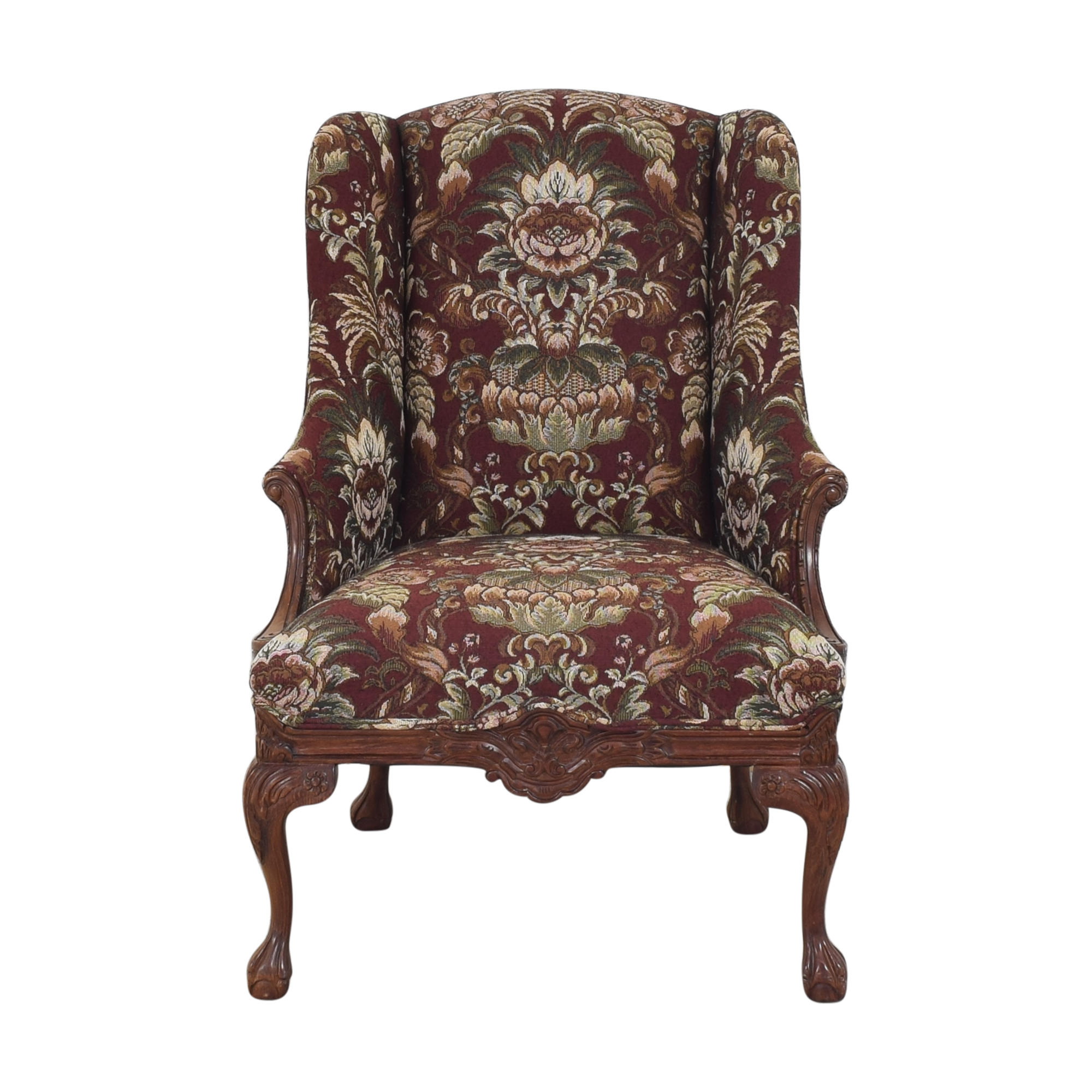 Drexel Heritage Wing Back Floral Chair / Chairs