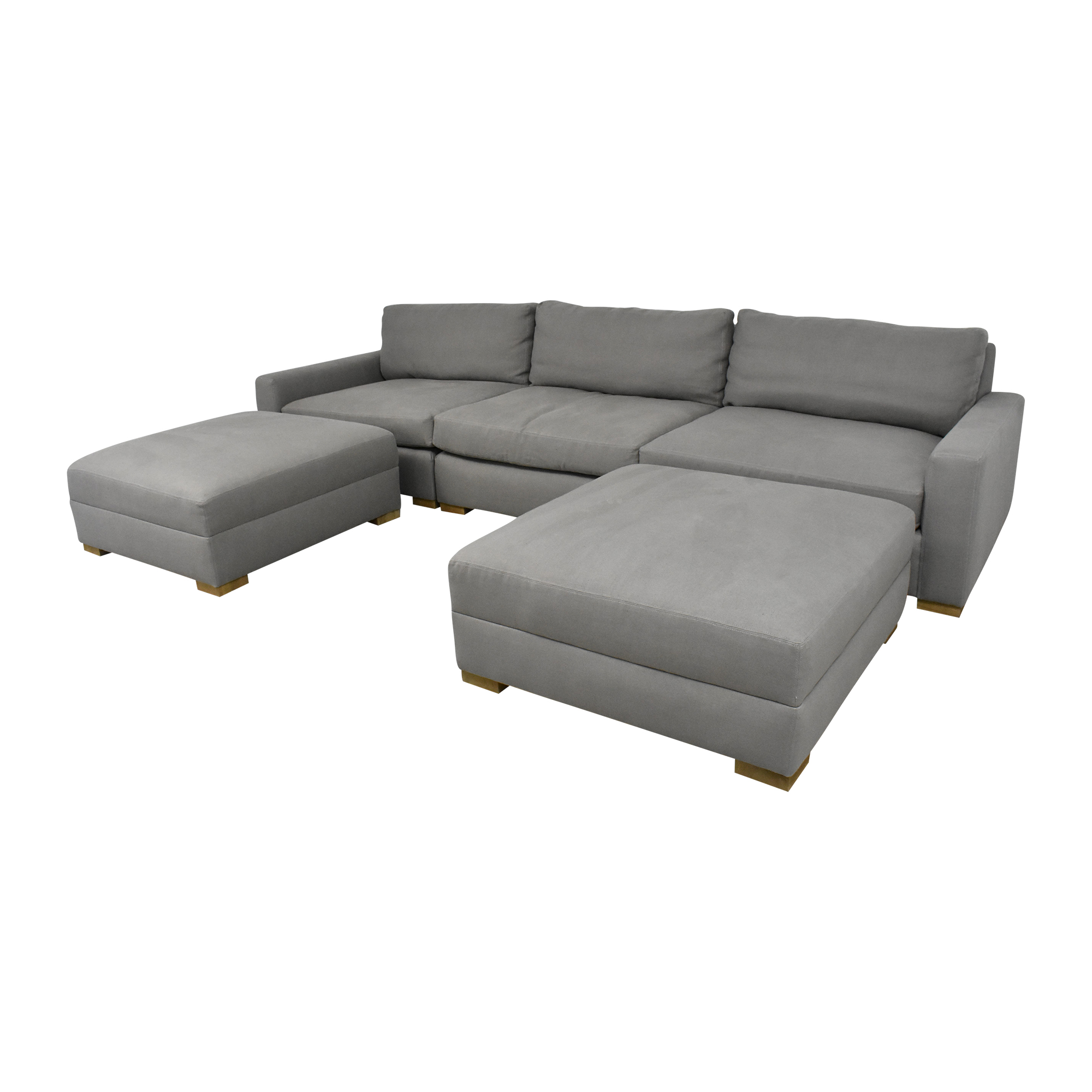 Restoration Hardware Restoration Hardware Maxwell Modular Sofa with Ottomans grey