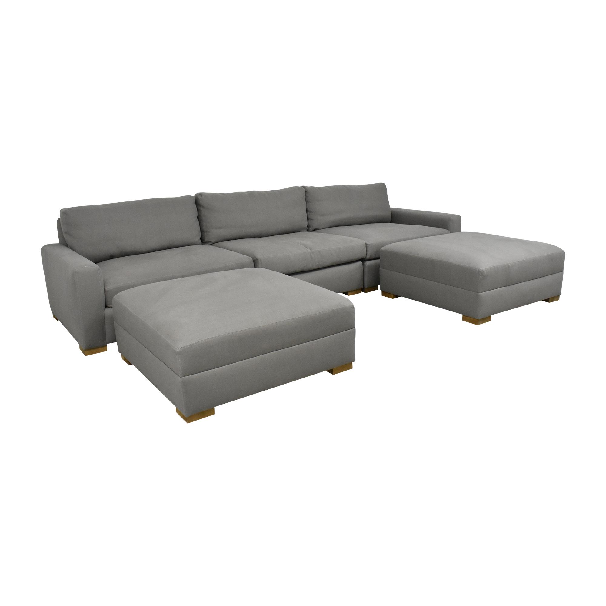 buy Restoration Hardware Maxwell Modular Sofa with Ottomans Restoration Hardware Sofas