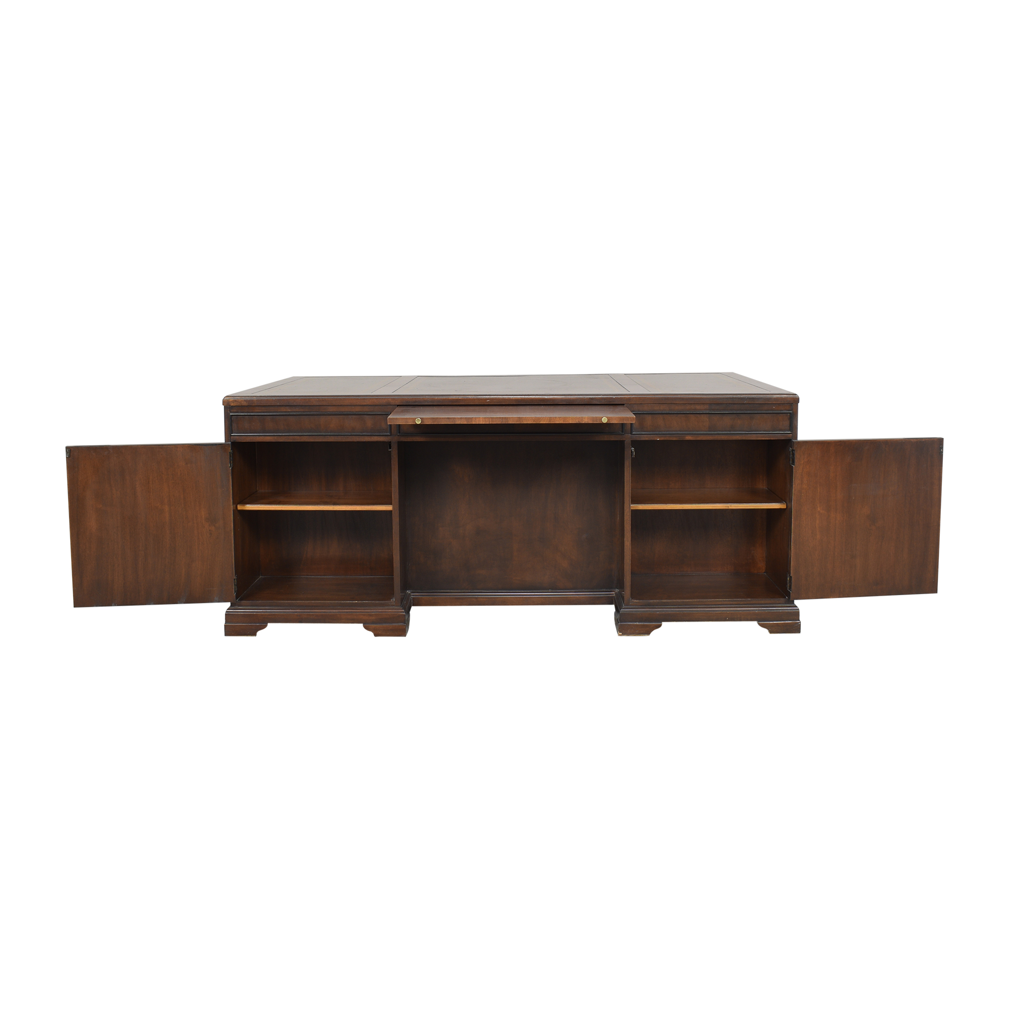 Executive Desk with Drawers and Cabinets used