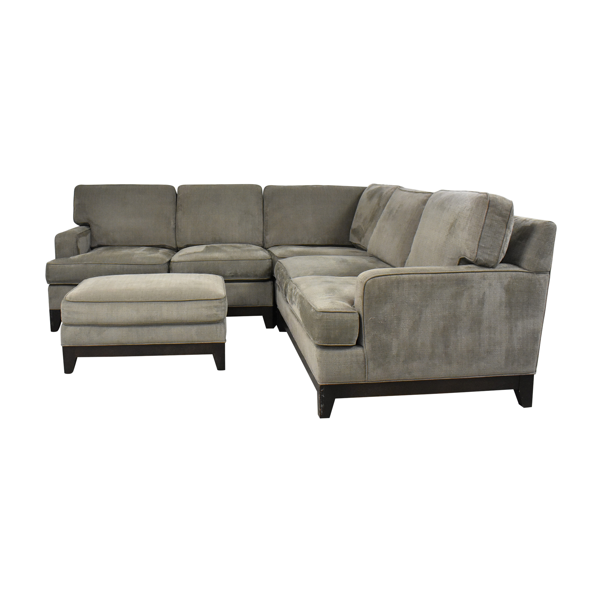 Ethan Allen Ethan Alan Arcata Sectional with Ottoman dimensions