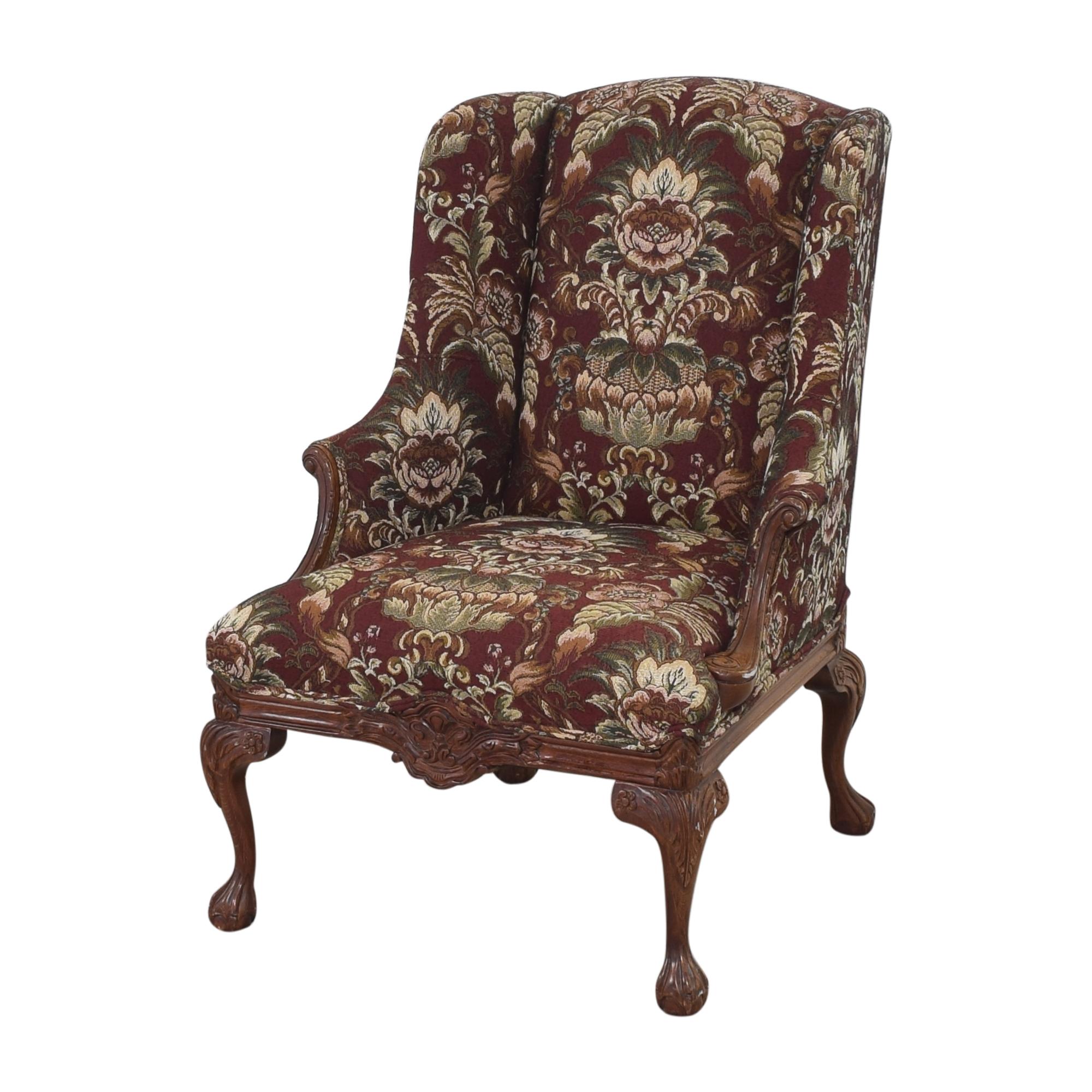 shop Drexel Heritage Wing Back Floral Chair Drexel Heritage