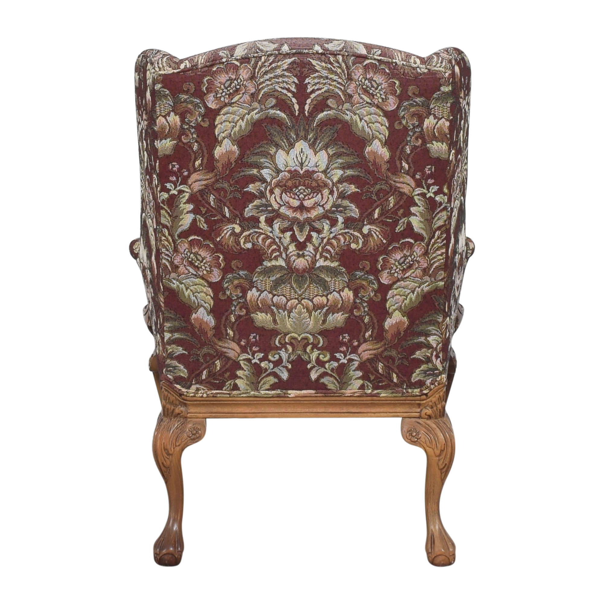 Drexel Heritage Drexel Heritage Wing Back Floral Chair ma