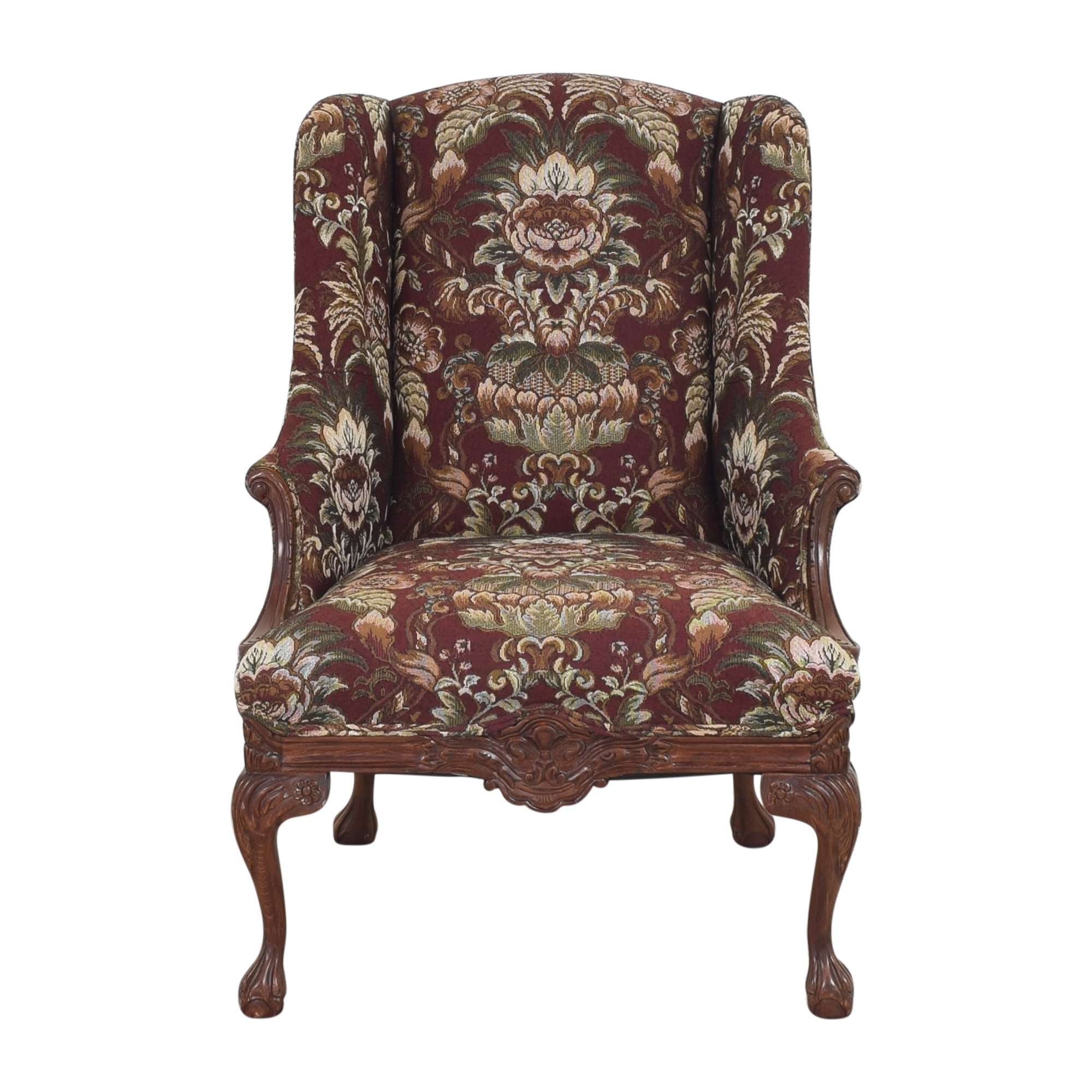 Drexel Heritage Drexel Heritage Wing Back Floral Chair