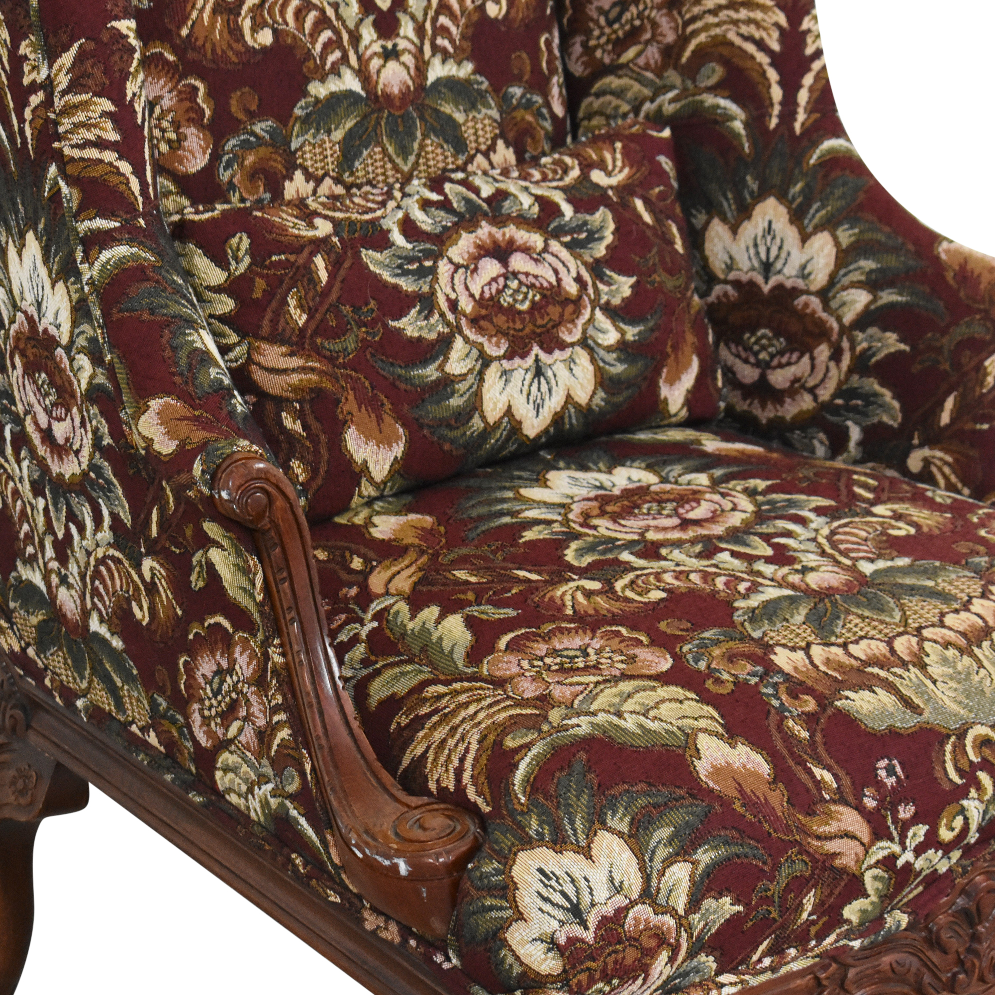 Drexel Heritage Drexel Heritage Wing Back Floral Chair on sale