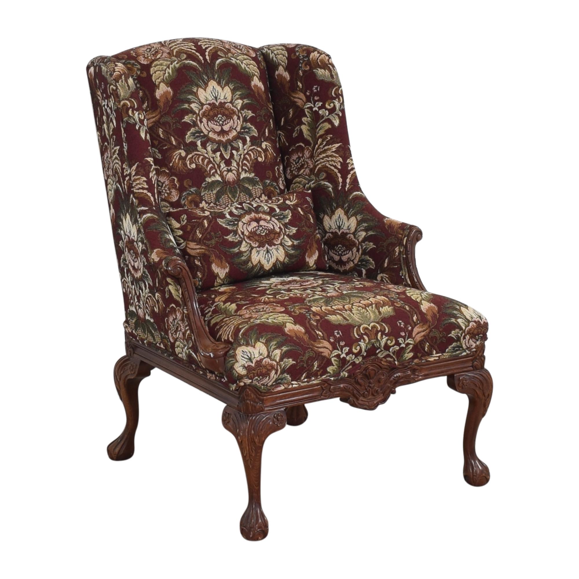 Drexel Heritage Drexel Heritage Wing Back Floral Chair multi