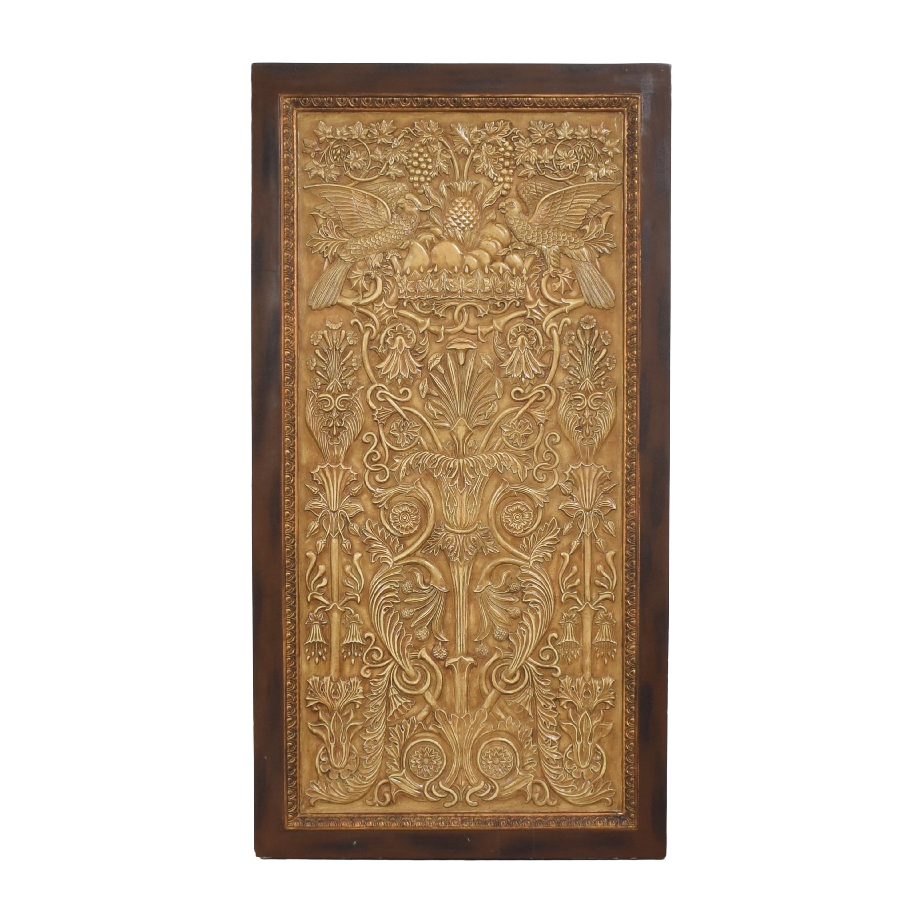 Decorative Framed Wall Art gold and dark brown