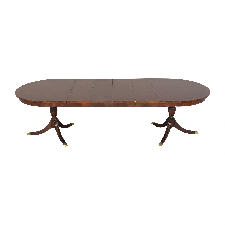 Henkel Harris Henkel Harris Double Pedestal Extendable Dining Table coupon