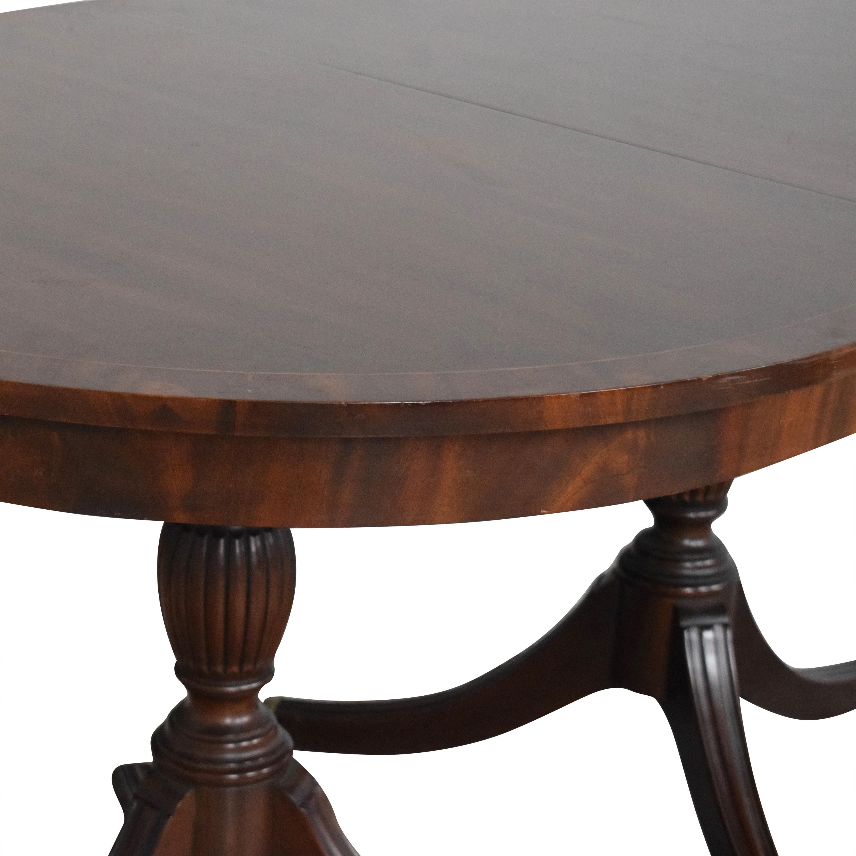 Henkel Harris Henkel Harris Double Pedestal Extendable Dining Table discount