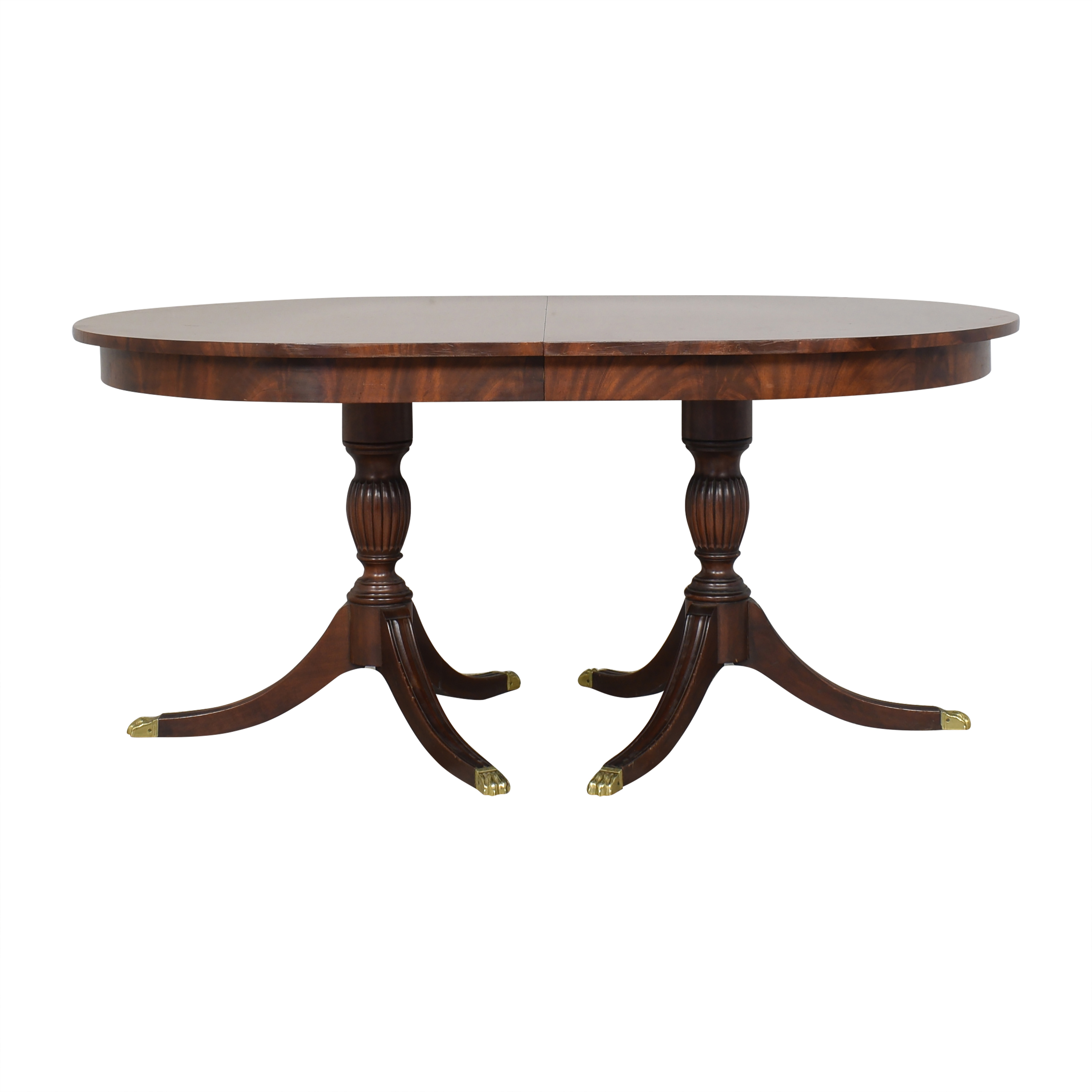 Henkel Harris Henkel Harris Double Pedestal Extendable Dining Table for sale