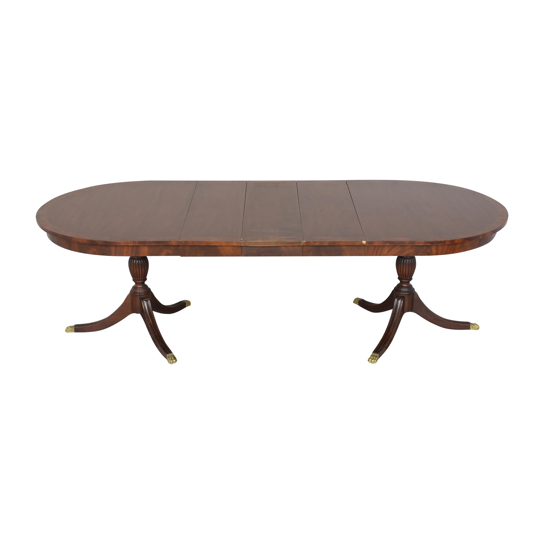 Henkel Harris Henkel Harris Double Pedestal Extendable Dining Table ct