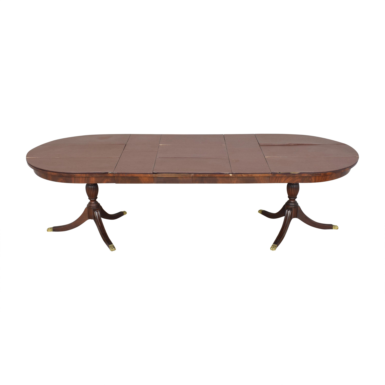 Henkel Harris Henkel Harris Double Pedestal Extendable Dining Table price