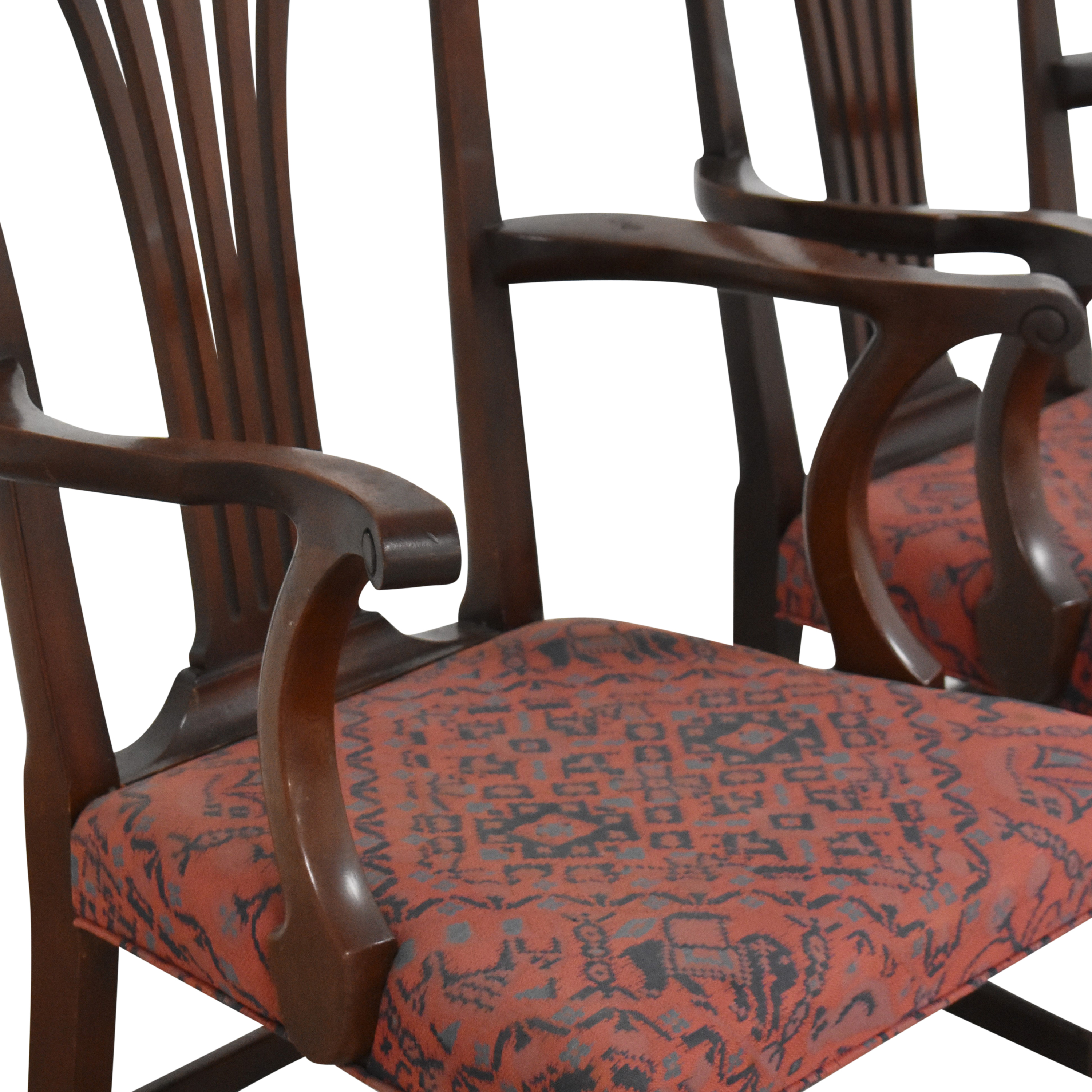 Wood & Hogan Wood & Hogan Country Chippendale Dining Arm Chairs nyc