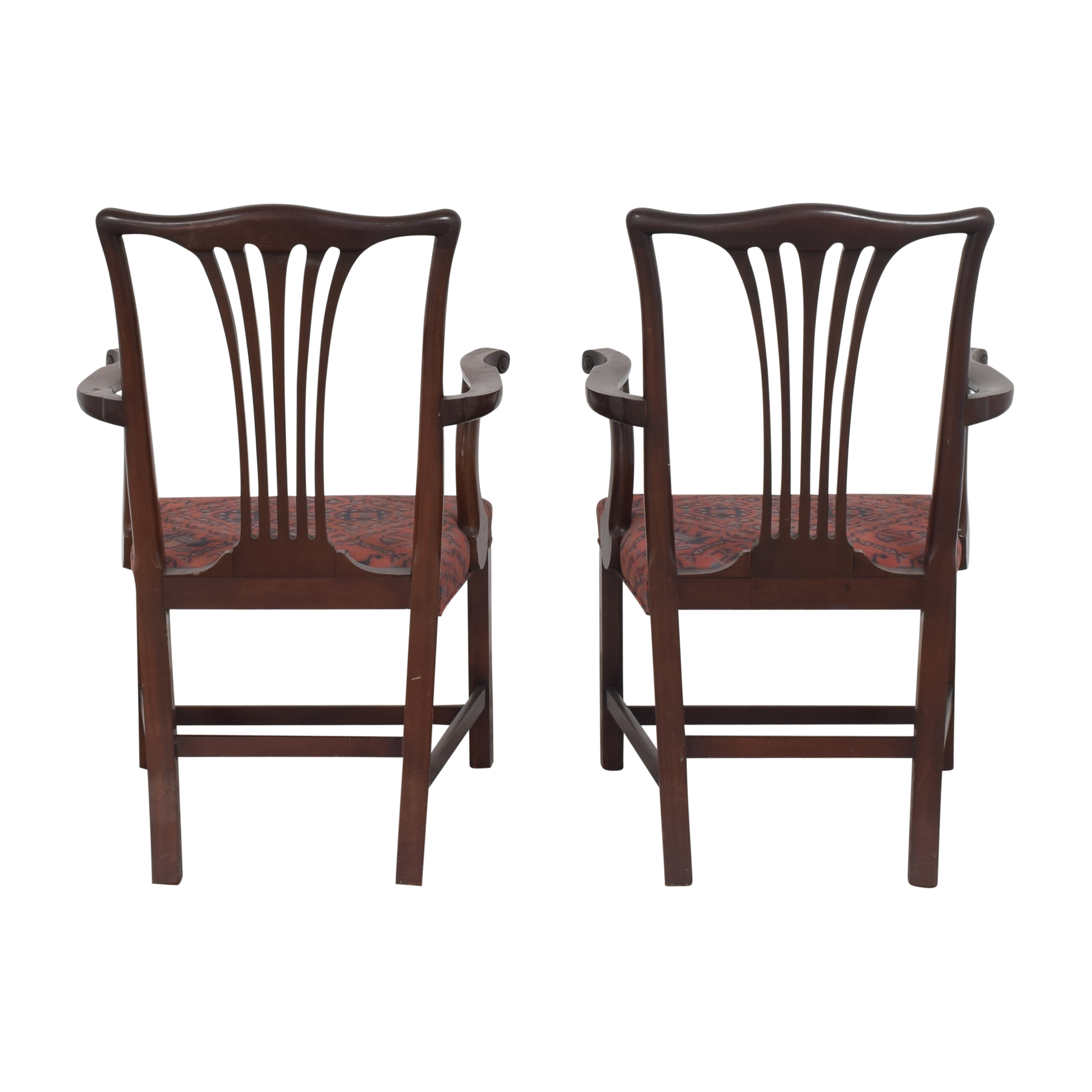 Wood & Hogan Wood & Hogan Country Chippendale Dining Arm Chairs second hand