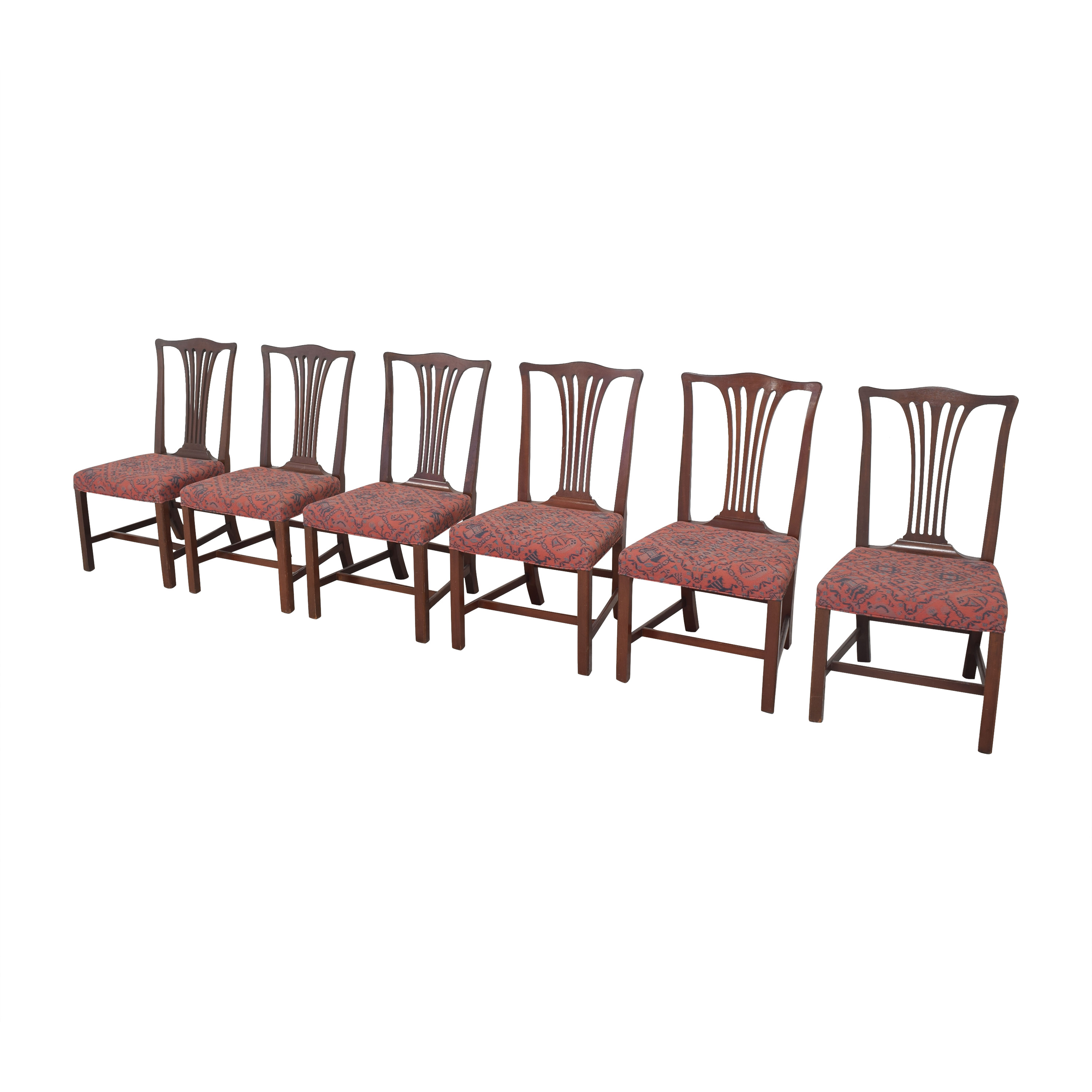 Wood & Hogan Country Chippendale Dining Side Chairs / Chairs