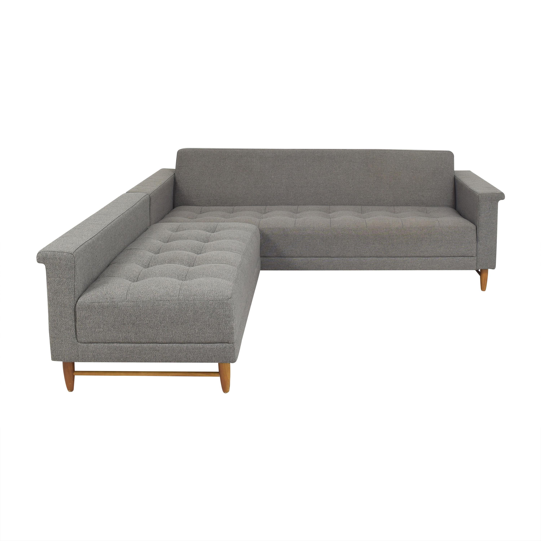 Gus Modern Gus Modern Harbord Loft Bi-Sectional Sofa dimensions