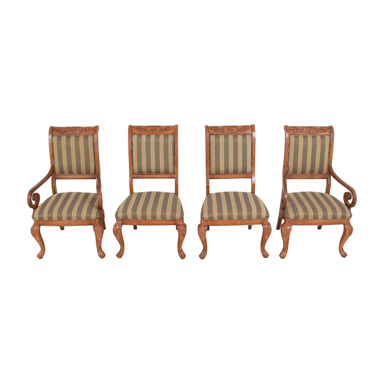 shop Hyundai Stripe Dining Chairs Hyundai Furniture Dinner Tables
