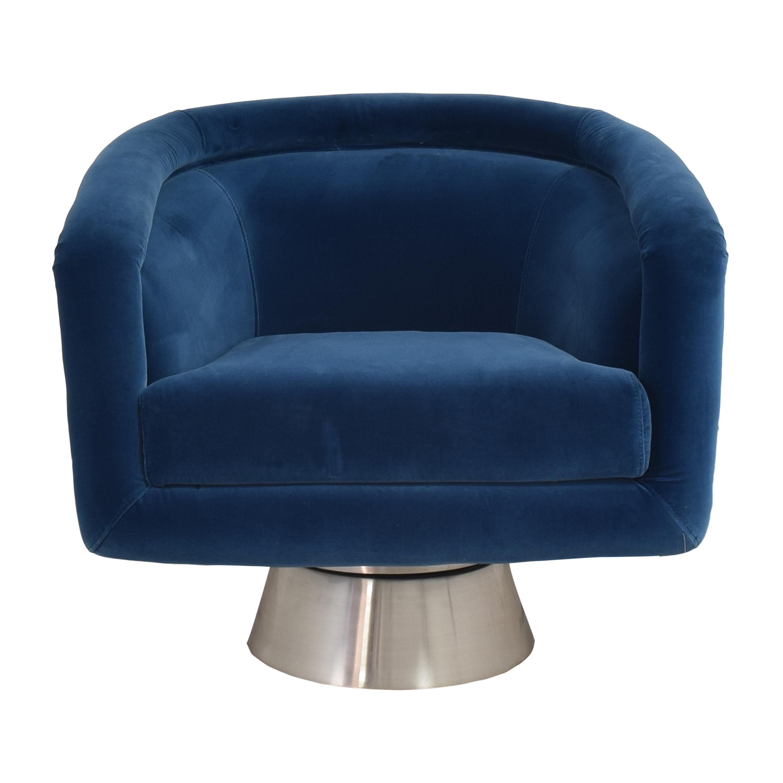 Jonathan Adler Jonathan Adler Bacharach Swivel Chair pa