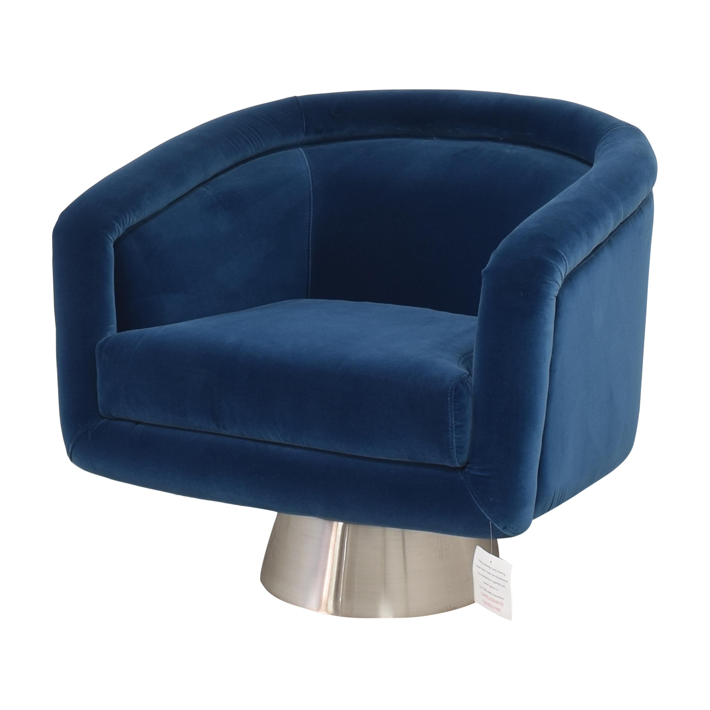 Jonathan Adler Jonathan Adler Bacharach Swivel Chair used