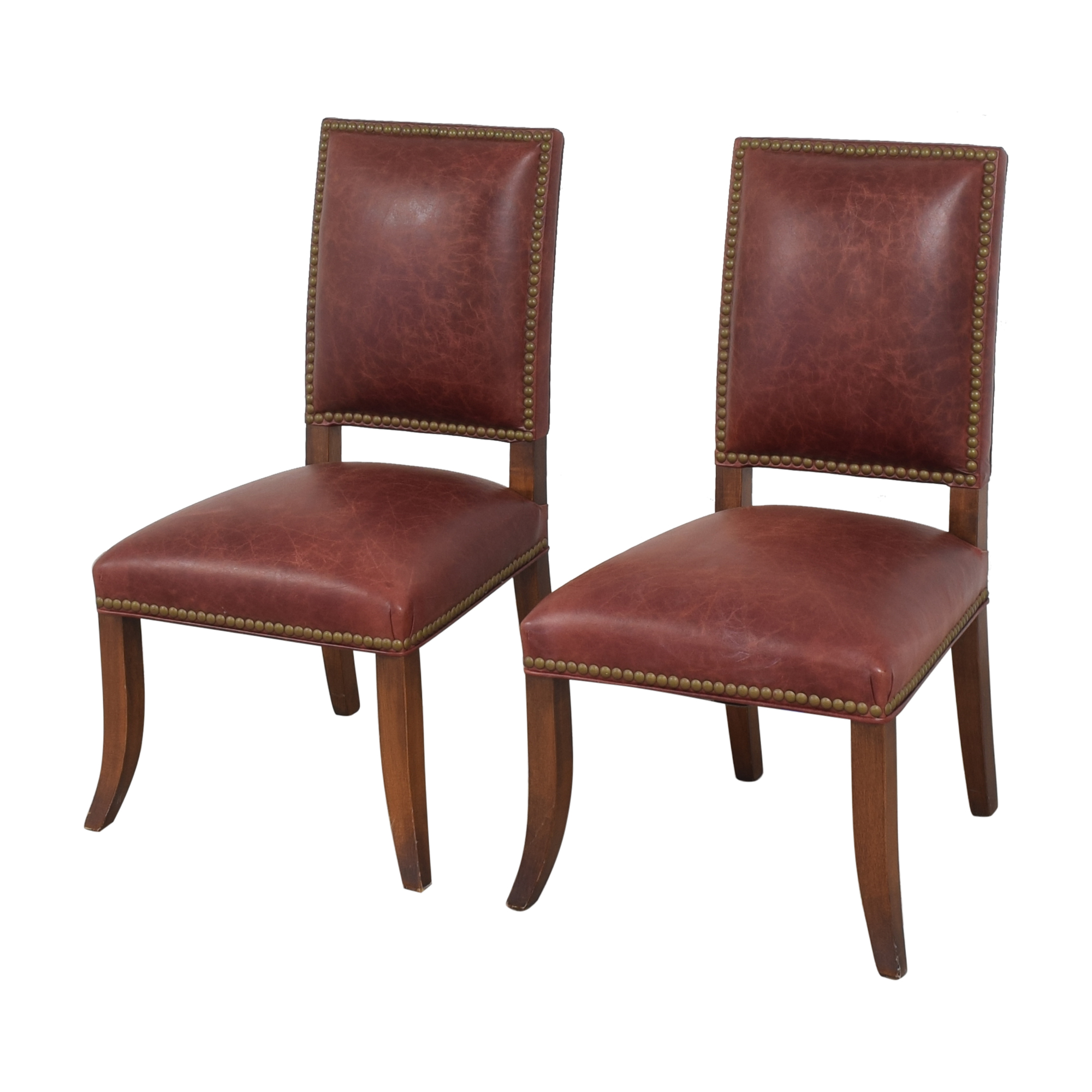 Ethan Allen Ethan Allen Nailhead Dining Side Chairs used