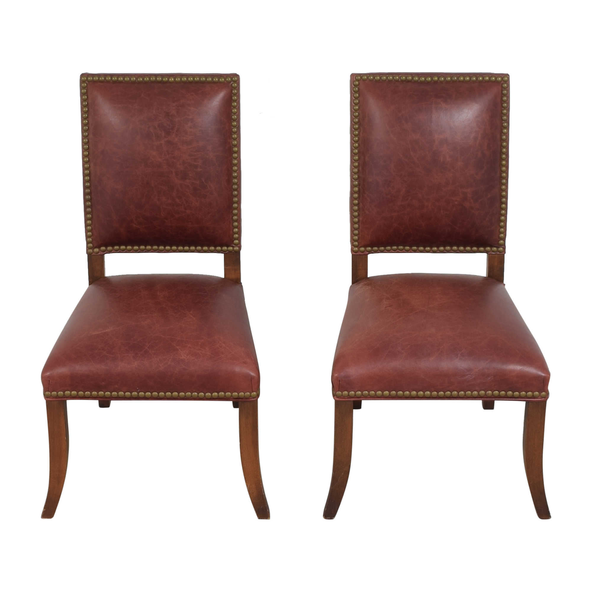 Ethan Allen Ethan Allen Nailhead Dining Side Chairs pa