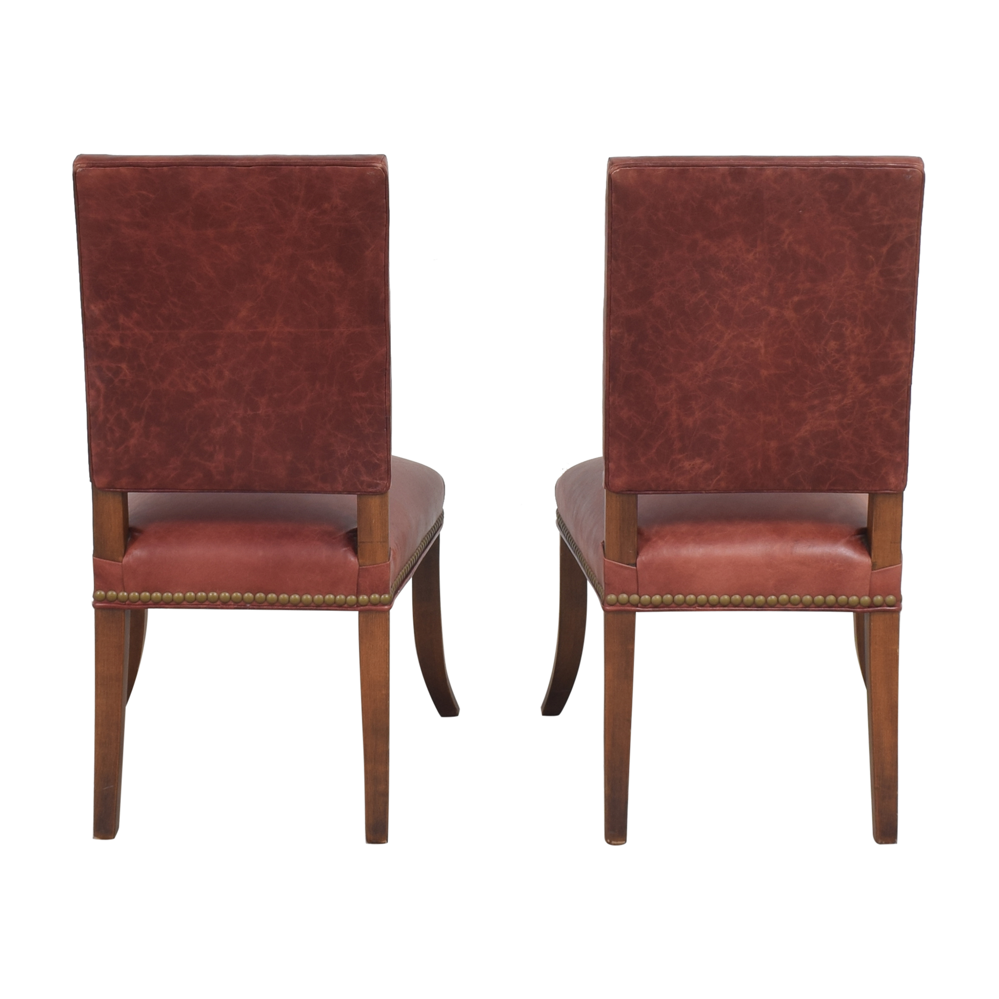 Ethan Allen Ethan Allen Nailhead Dining Side Chairs on sale