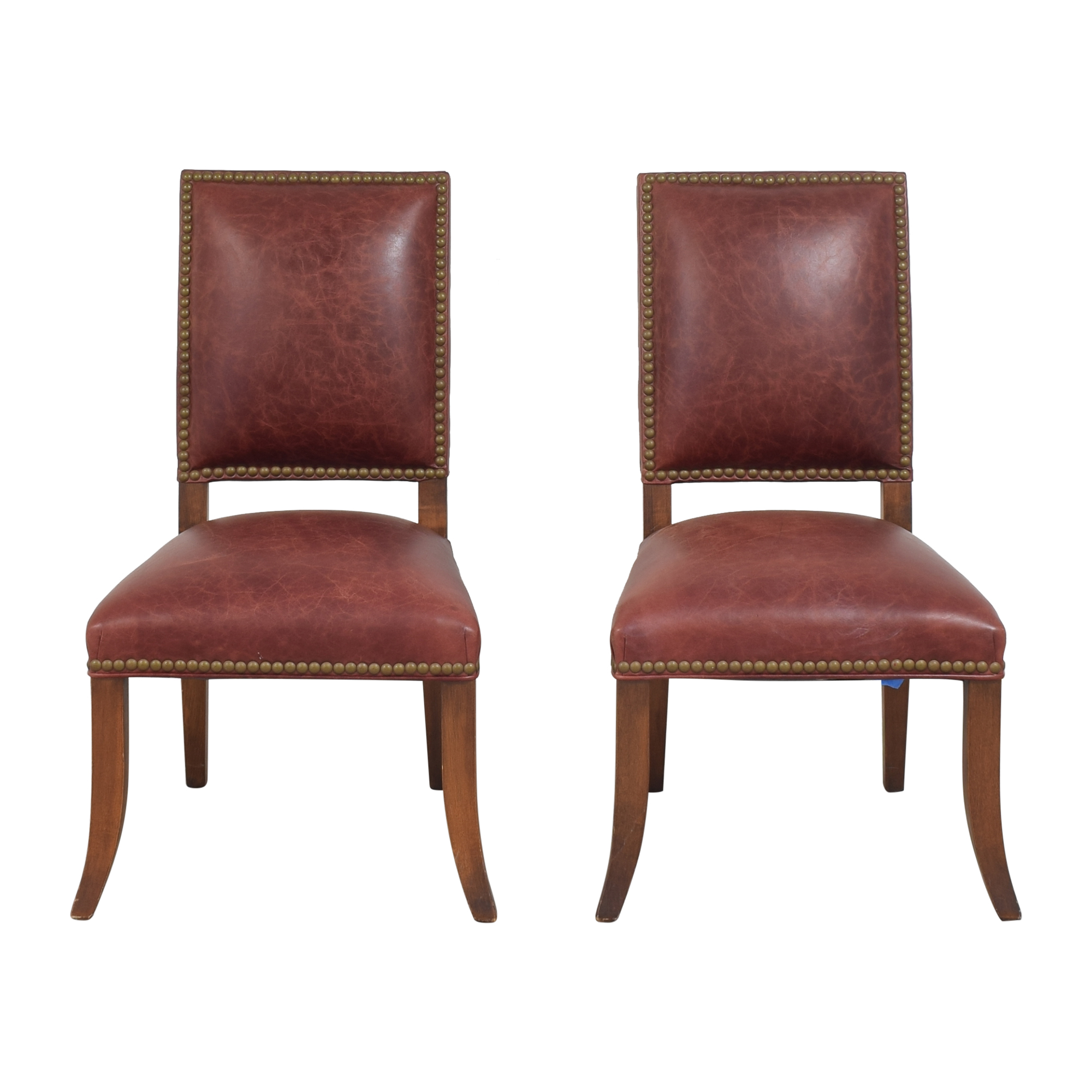 shop Ethan Allen Nailhead Dining Side Chairs Ethan Allen Chairs