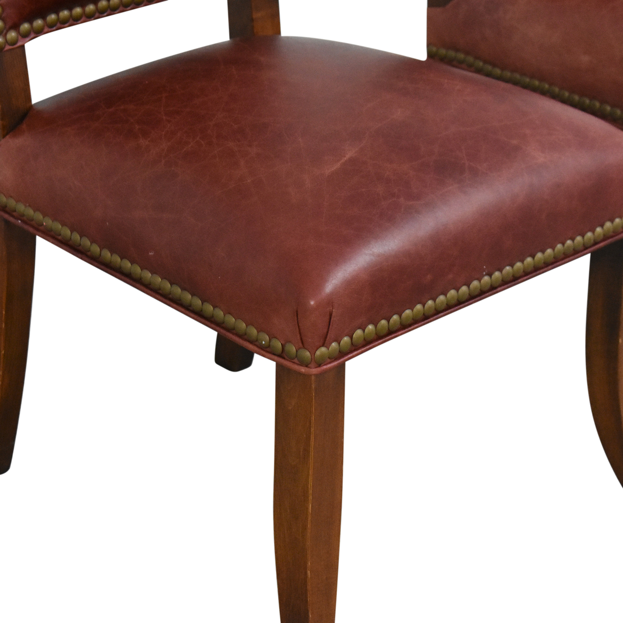 Ethan Allen Ethan Allen Nailhead Dining Side Chairs ma