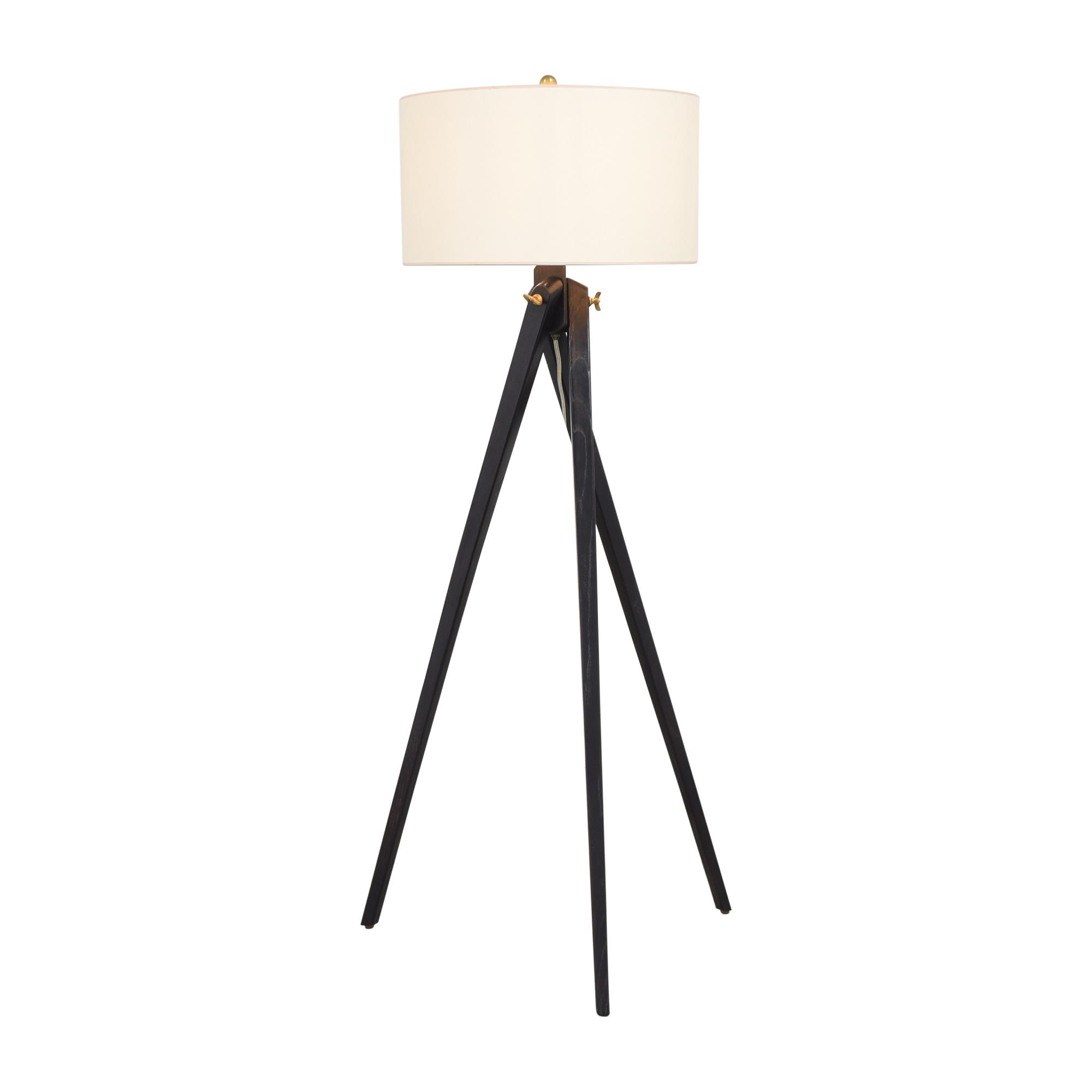 Visual Comfort Visual Comfort York Tripod Floor Lamp black & off white