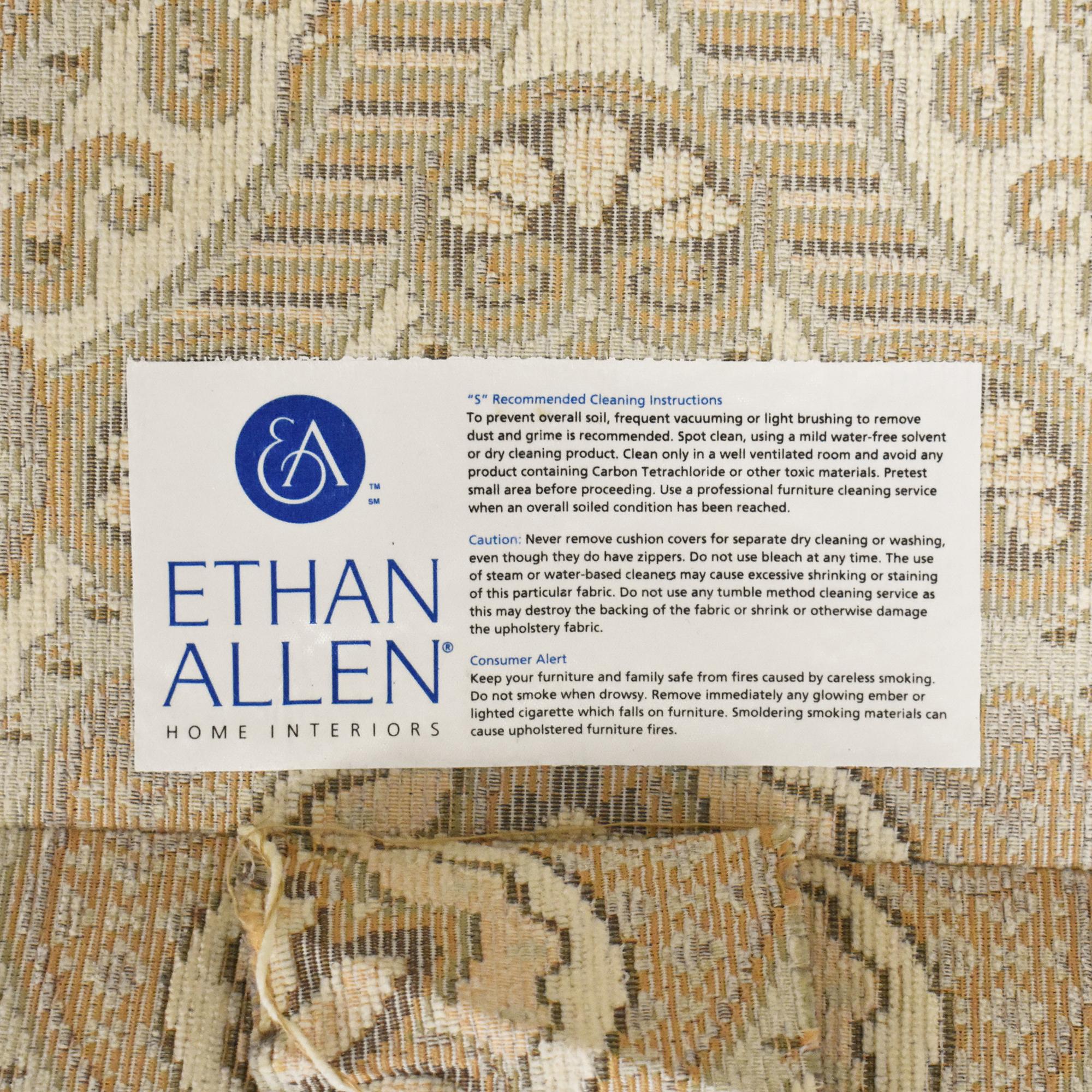 shop Ethan Allen Patterned Roll Arm Sofa Ethan Allen Sofas
